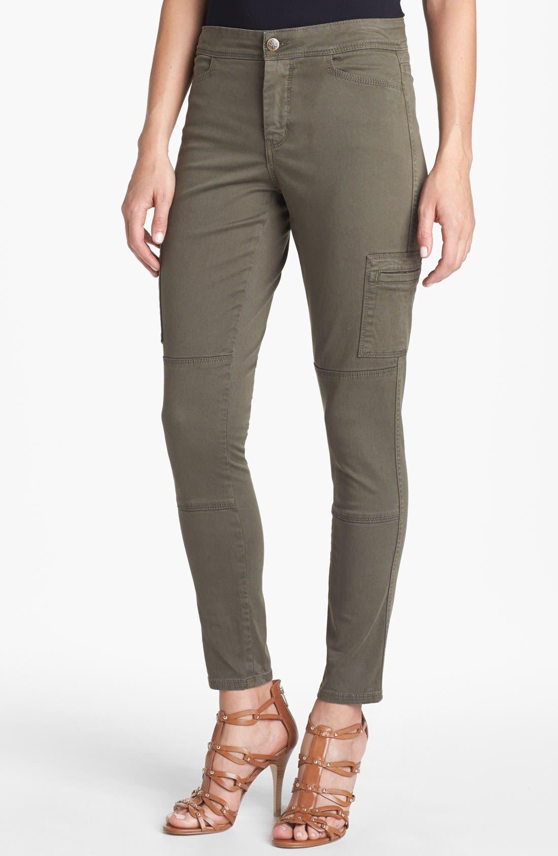 Main Image - NYDJ 'Celia' Skinny Cargo Pants (Petite)