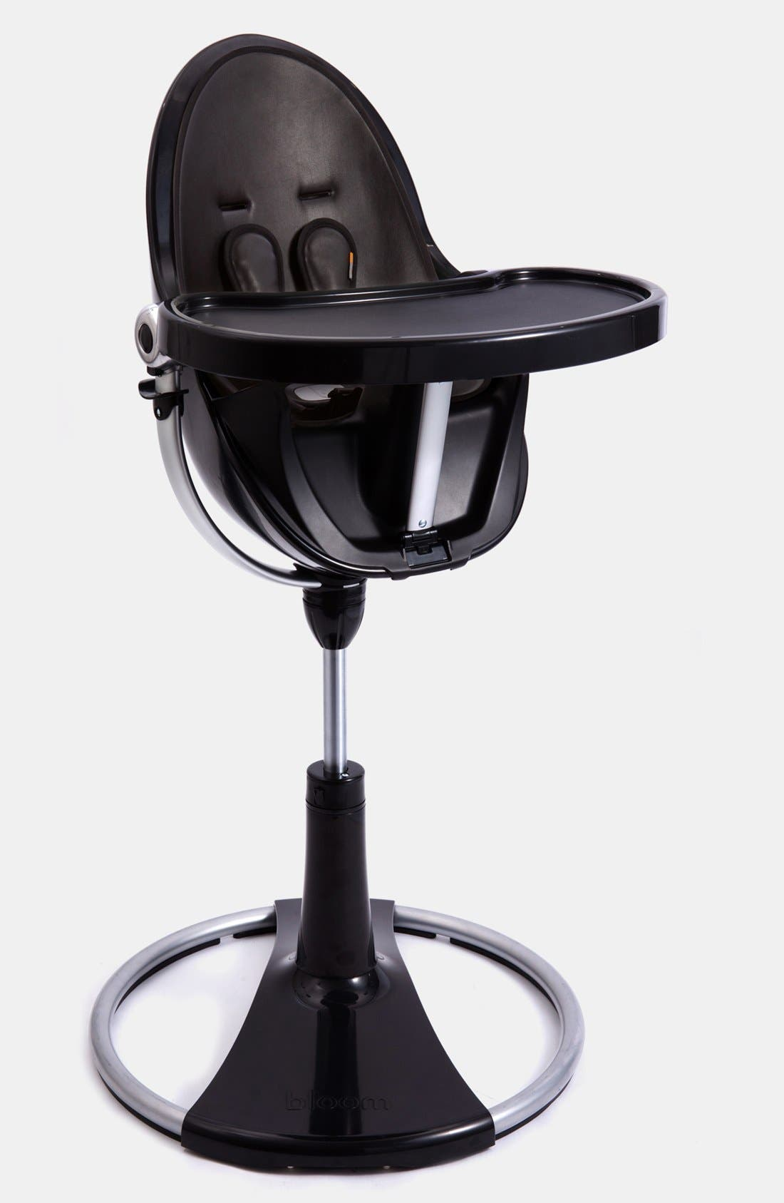 'Fresco<sup>™</sup> Chrome' Contemporary Highchair,                             Main thumbnail 1, color,                             Black