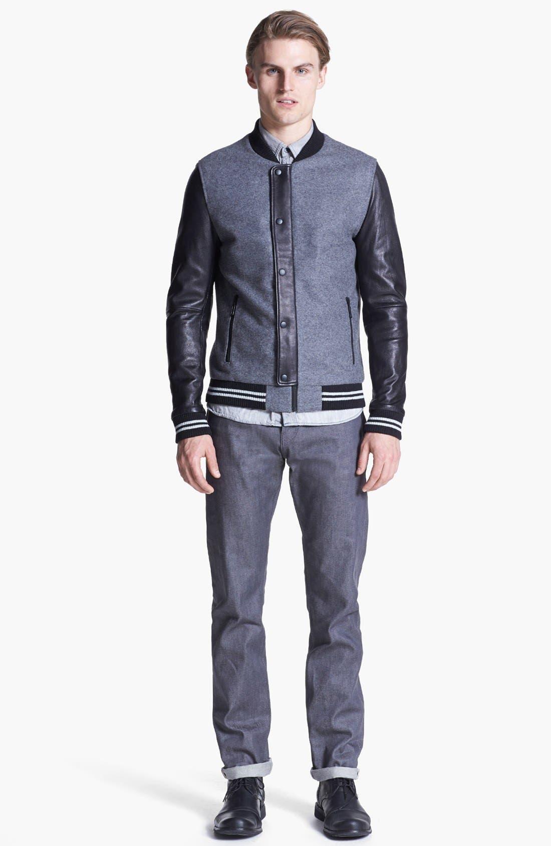 Alternate Image 4  - 7 Diamonds 'Novara' Wool & Leather Varsity Jacket