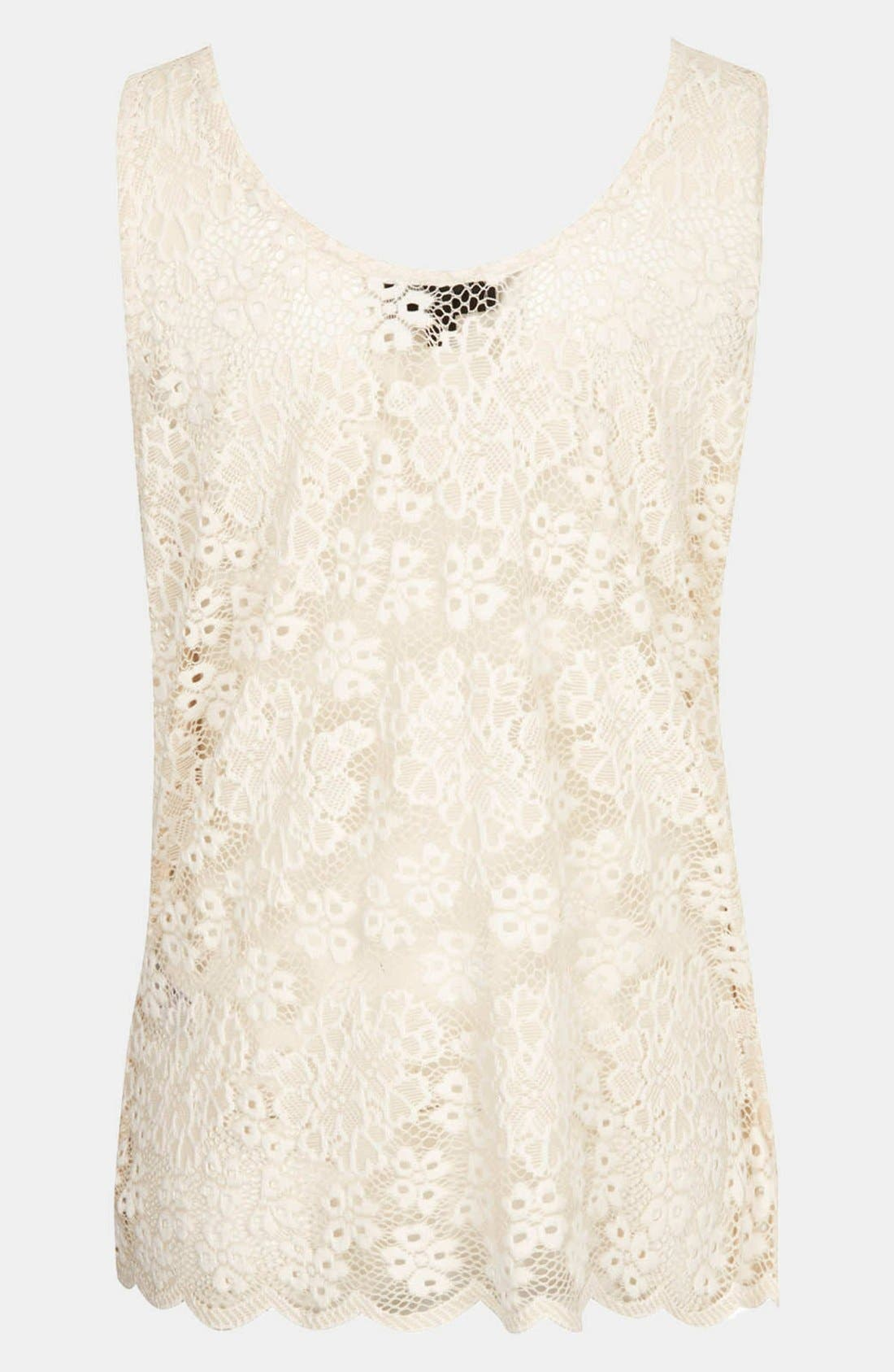 Alternate Image 3  - Topshop Lace Maternity Tank