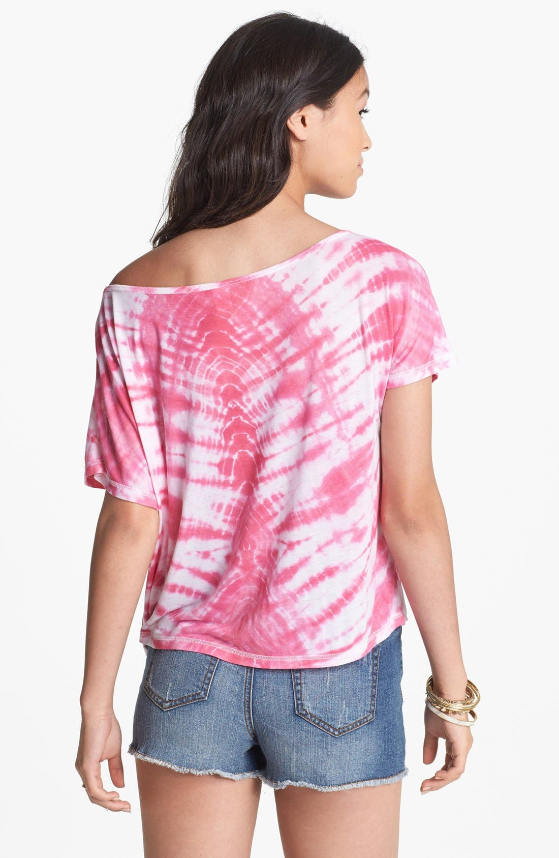 Alternate Image 2  - BP. Tie Dye Wide Neck Tee (Juniors)