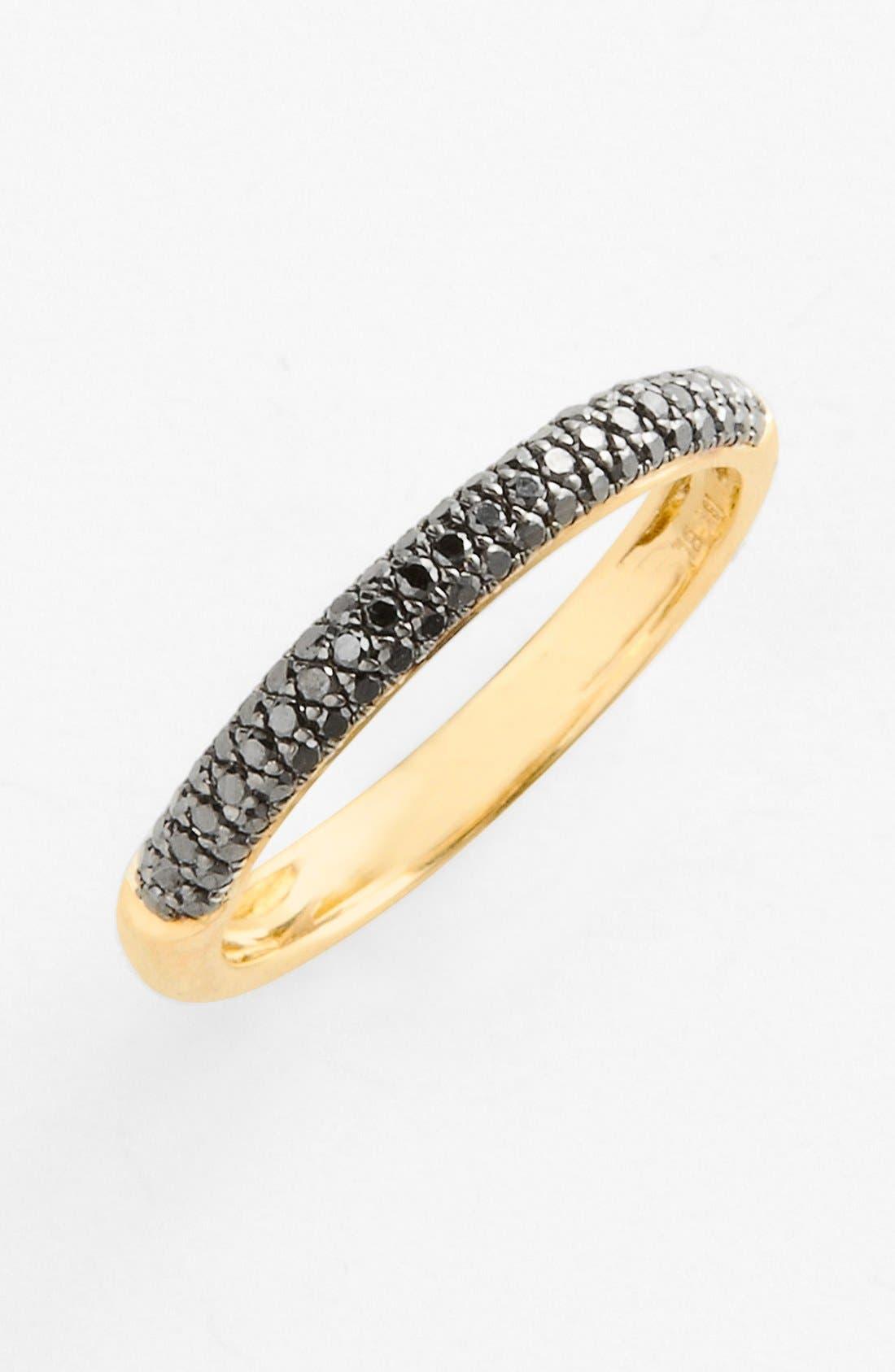 Main Image - Bony Levy 'Stick' Pavé Black Diamond Ring (Nordstrom Exclusive)