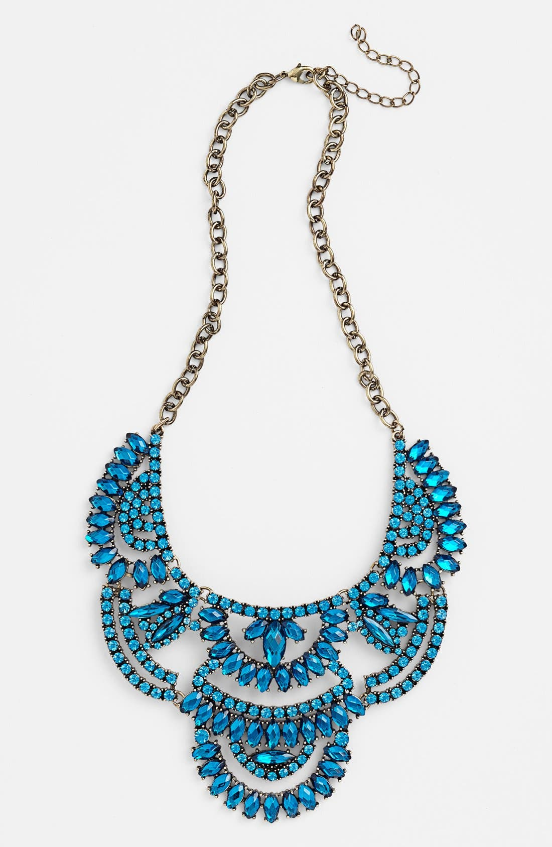 Stone Statement Necklace,                         Main,                         color, Sapphire