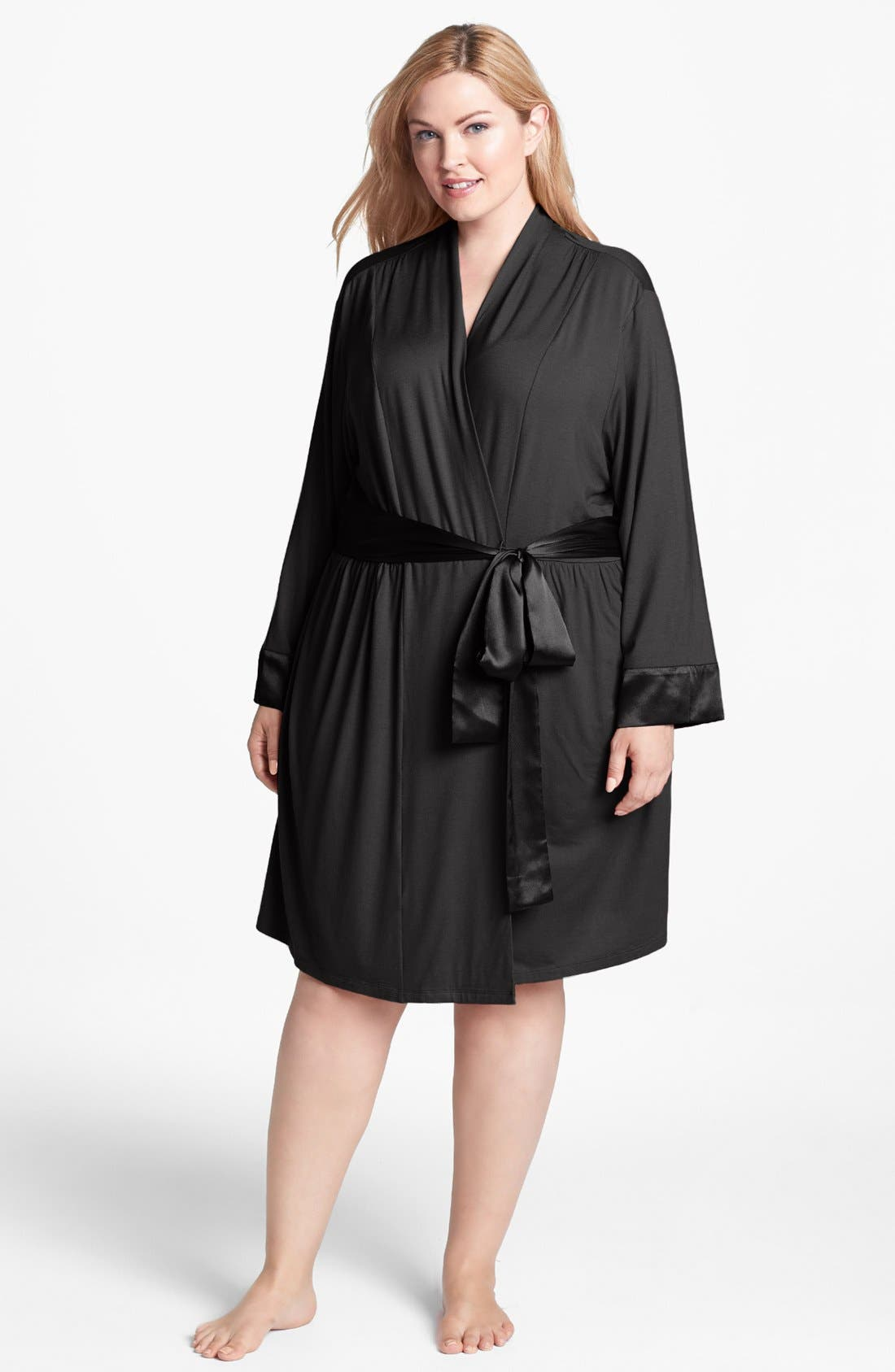 Alternate Image 1 Selected - Midnight by Carole Hochman 'Dream Weaver' Robe (Plus Size)