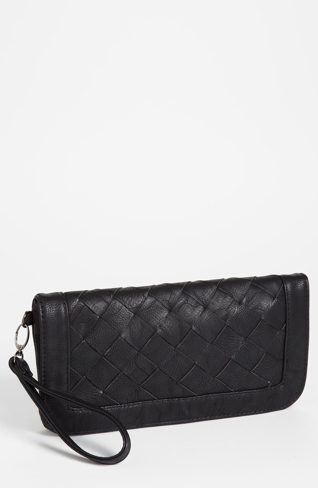 Main Image - Natasha Couture Woven Faux Leather Clutch