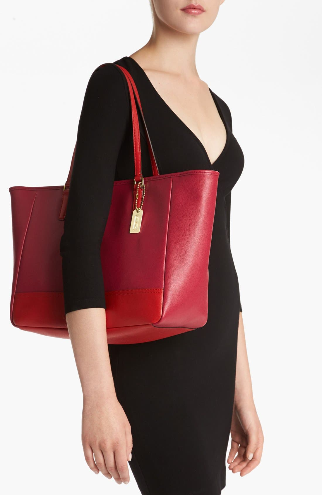 Alternate Image 5  - COACH 'Colorblock - Medium' Leather Tote