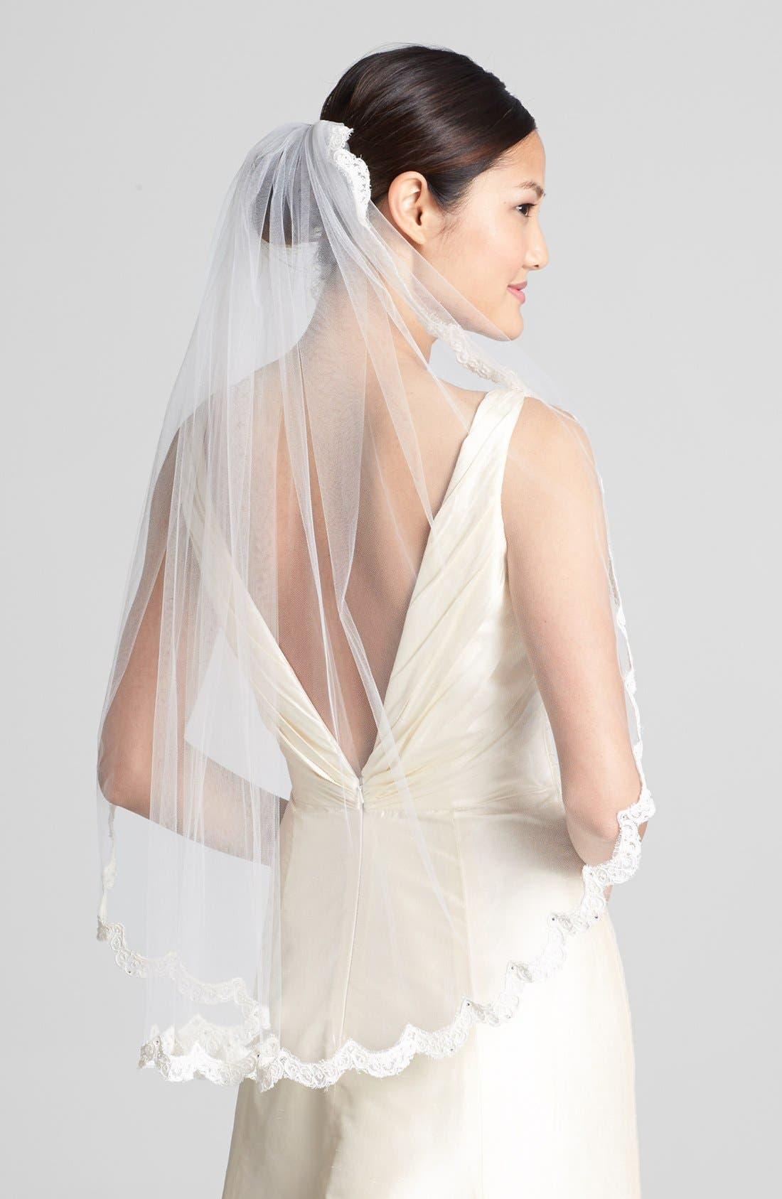 Wedding Belles New York 'Lola - Swarovski Crystal' Lace Border Veil (Nordstrom Exclusive)