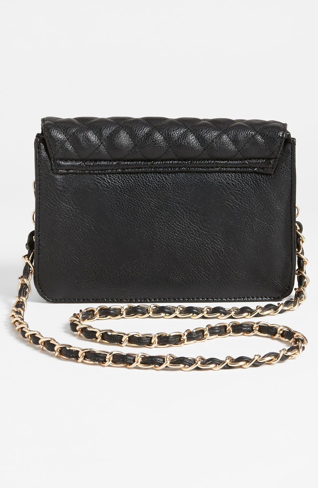 Alternate Image 4  - NB Handbags Quilted Crossbody Bag (Juniors)