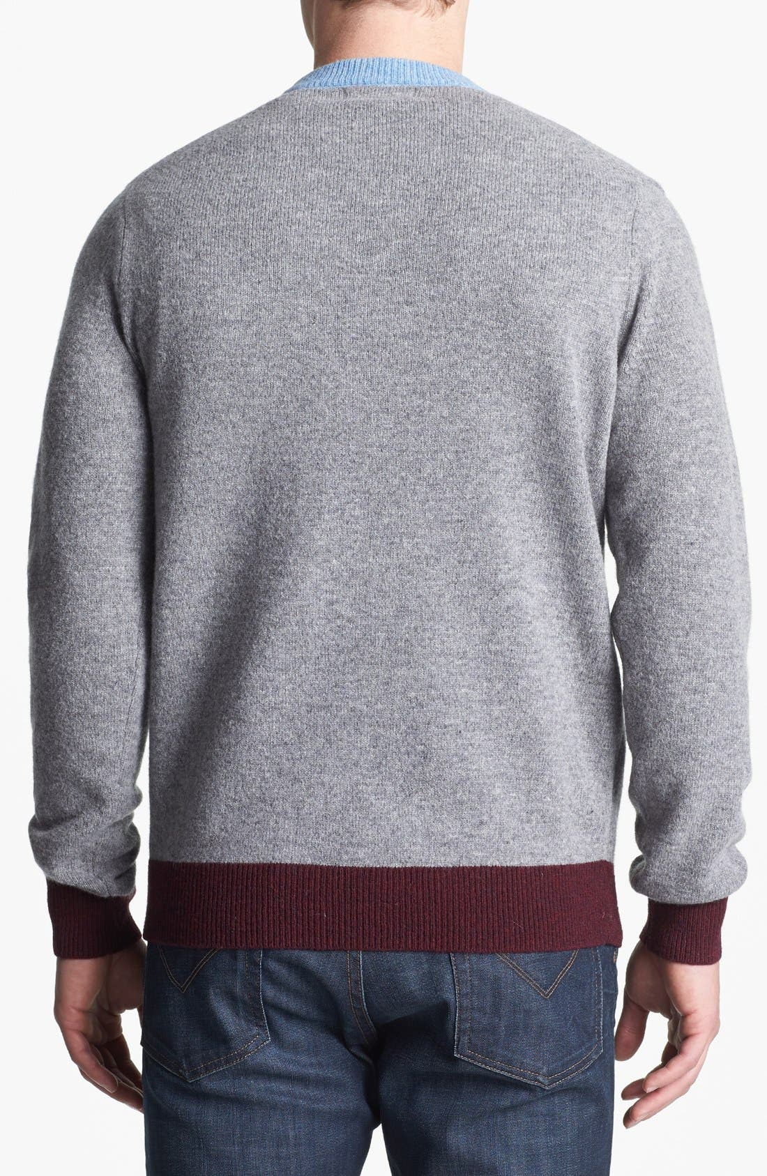 Alternate Image 2  - Fred Perry Contrast Ringer Wool Sweater