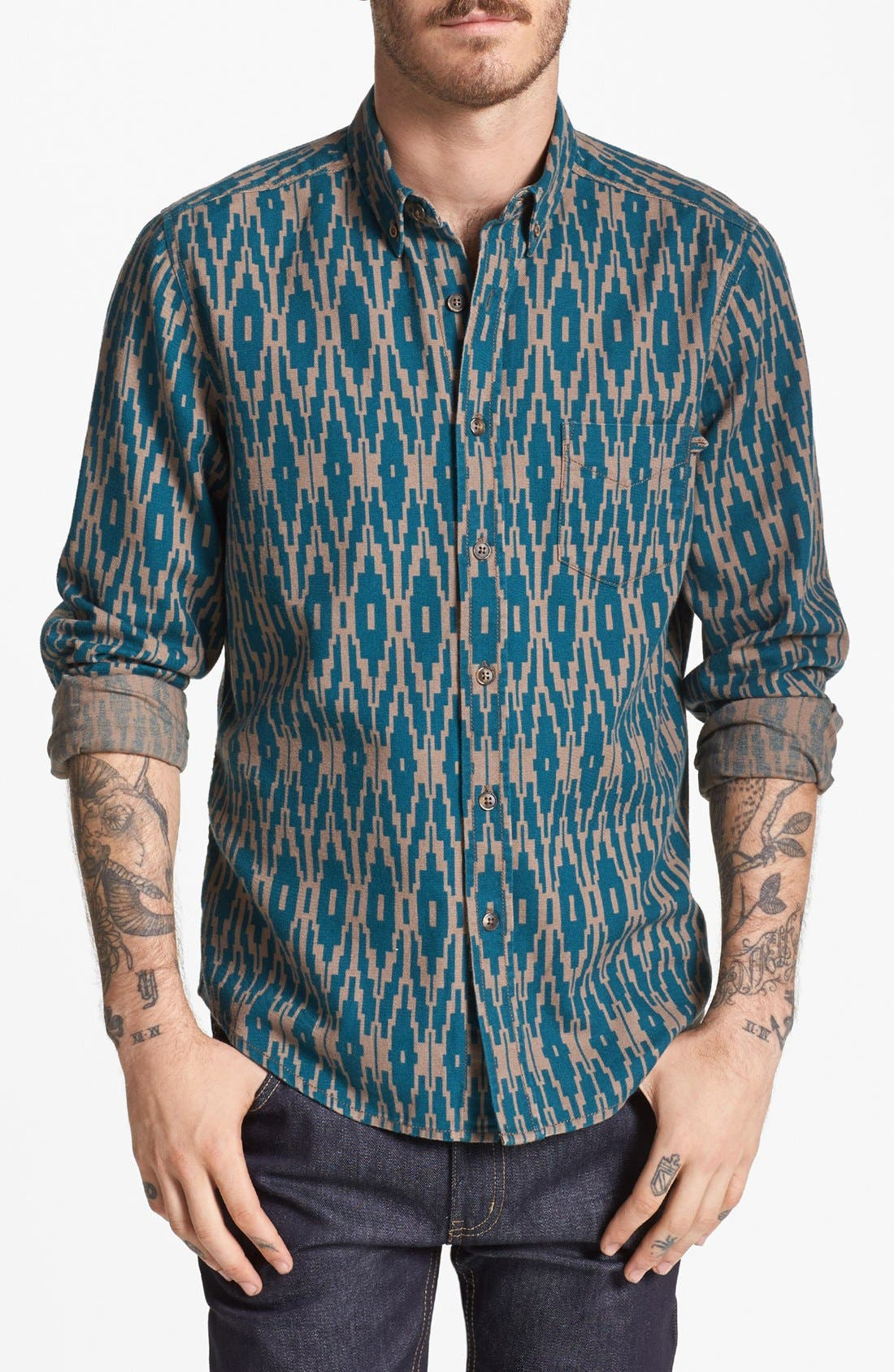 Alternate Image 1 Selected - life/after/denim 'Silverlake' Print Flannel Shirt