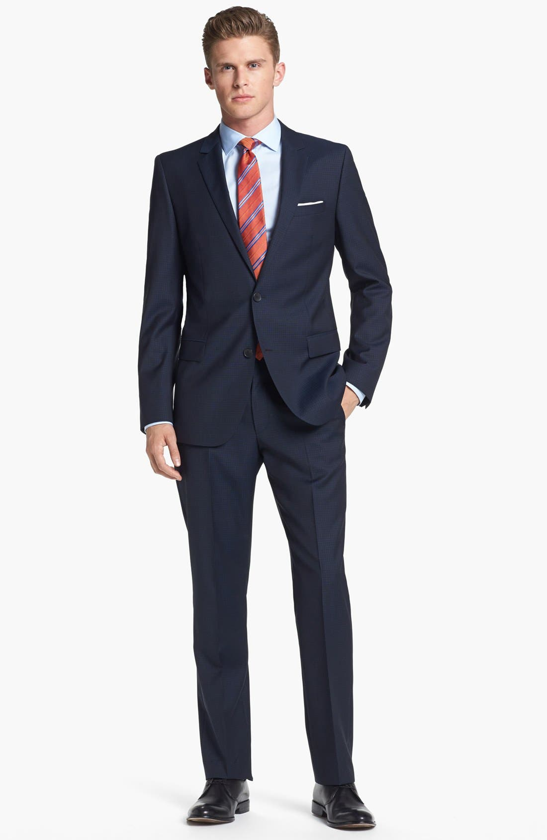Main Image - HUGO 'Astro/Hill' Extra Trim Fit Check Suit