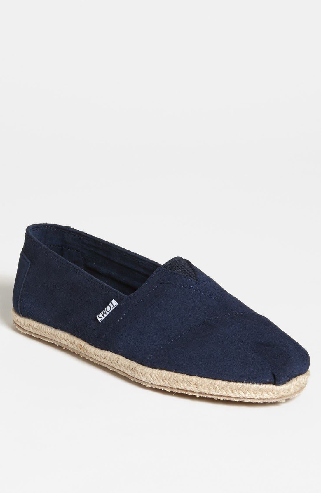 Alternate Image 1 Selected - TOMS 'Classic' Suede Slip-On   (Men)