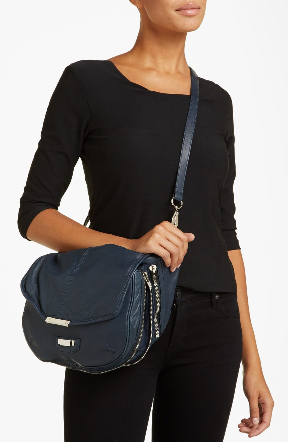Alternate Image 2  - Alexander Wang 'Iris - Nickel' Leather Crossbody Bag, Medium