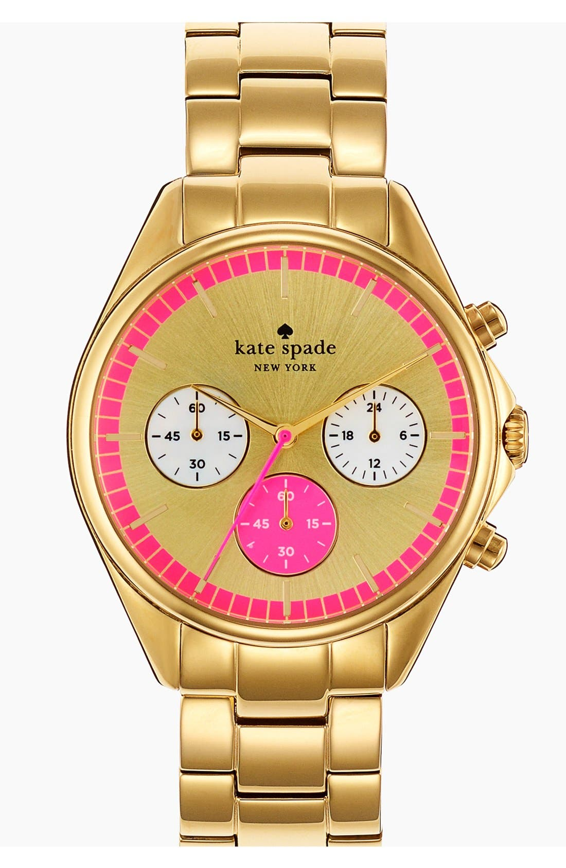 Main Image - kate spade new york 'seaport' chronograph bracelet watch, 38mm
