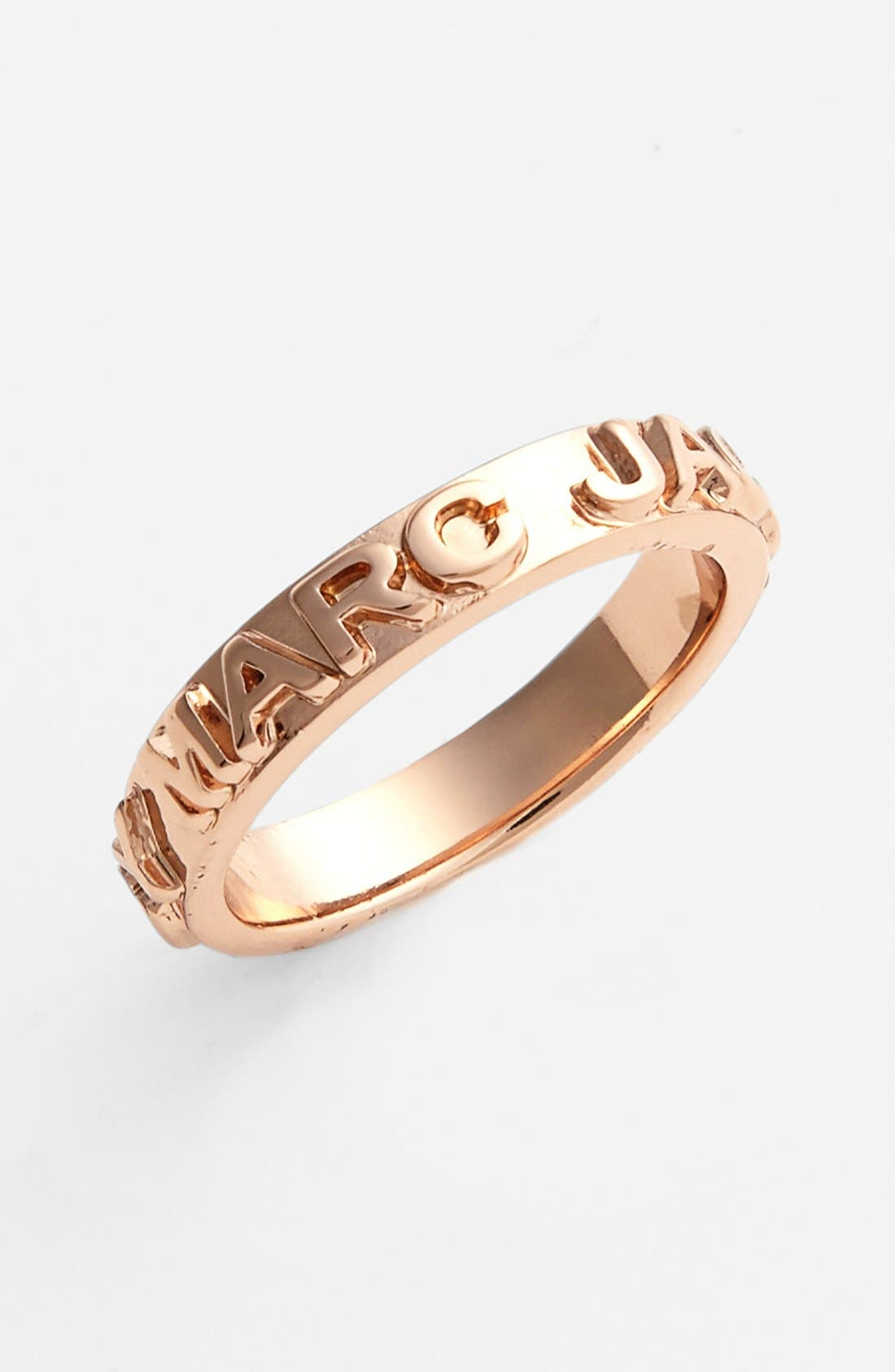 Main Image - MARC BY MARC JACOBS 'Letterpress' Logo Band Ring