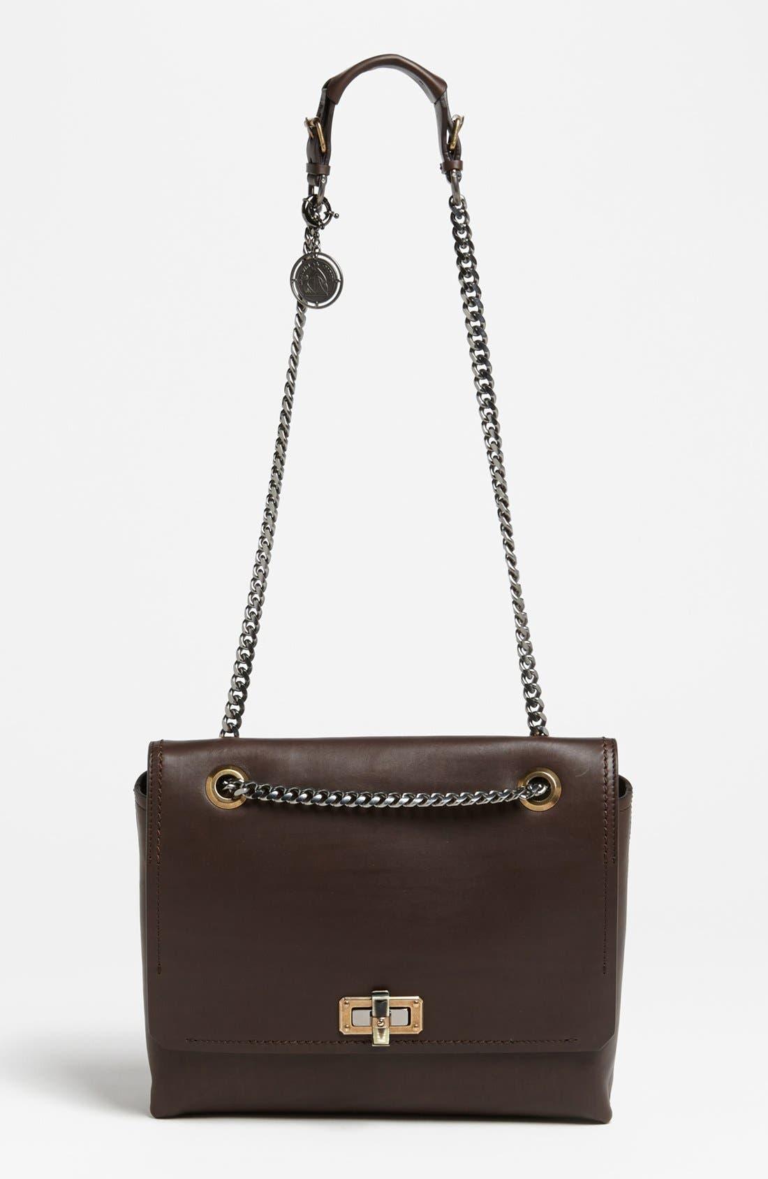 Alternate Image 1 Selected - Lanvin 'Happy - Medium' Leather Flap Shoulder Bag