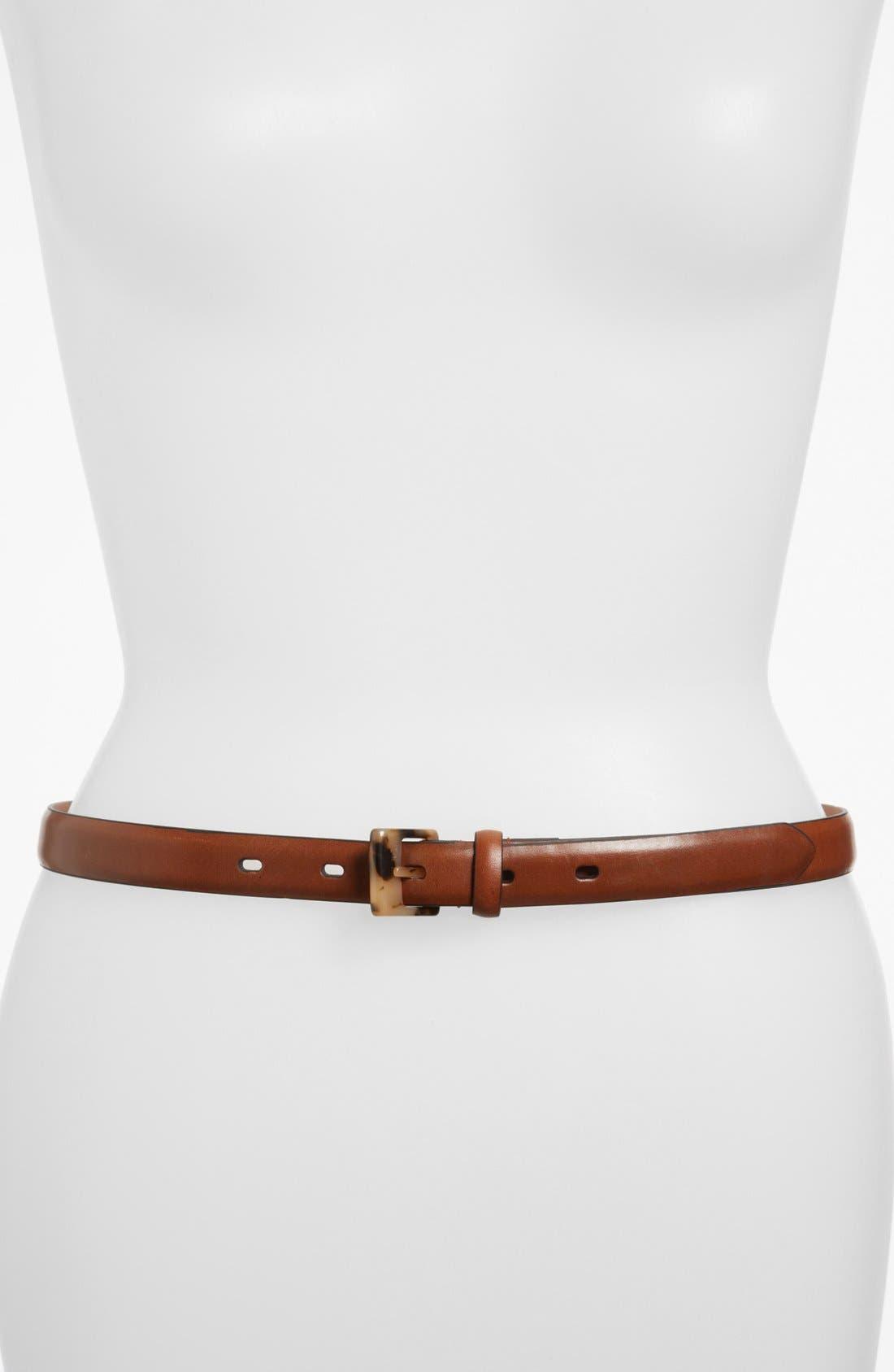 Alternate Image 1 Selected - Lauren Ralph Lauren Leather Belt (Online Only)
