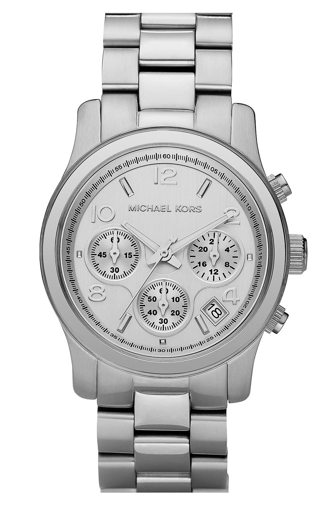 'Runway' Chronograph Watch, 38mm,                         Main,                         color, Silver