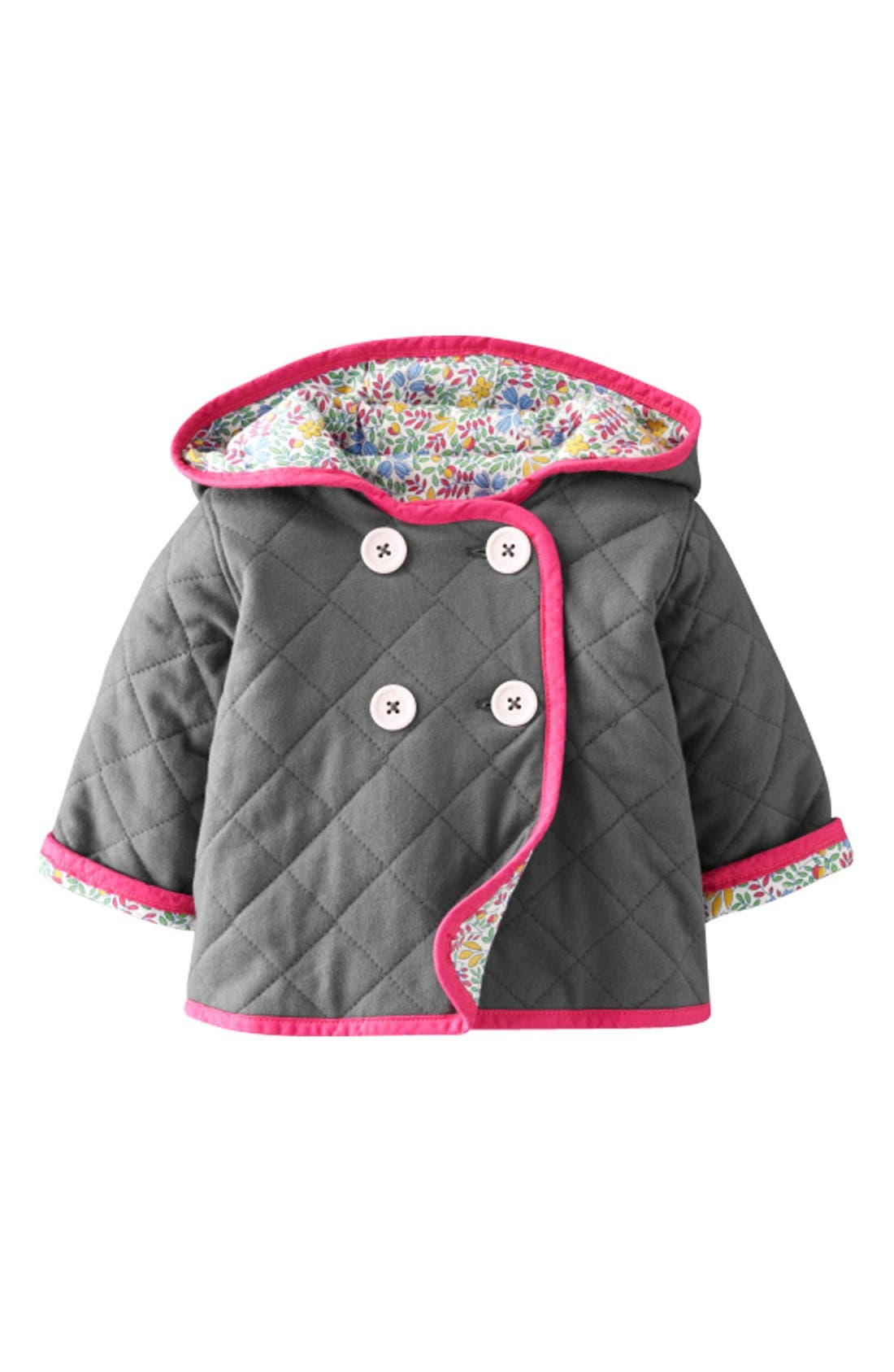 Main Image - Mini Boden Quilted Jersey Jacket (Baby Girls)
