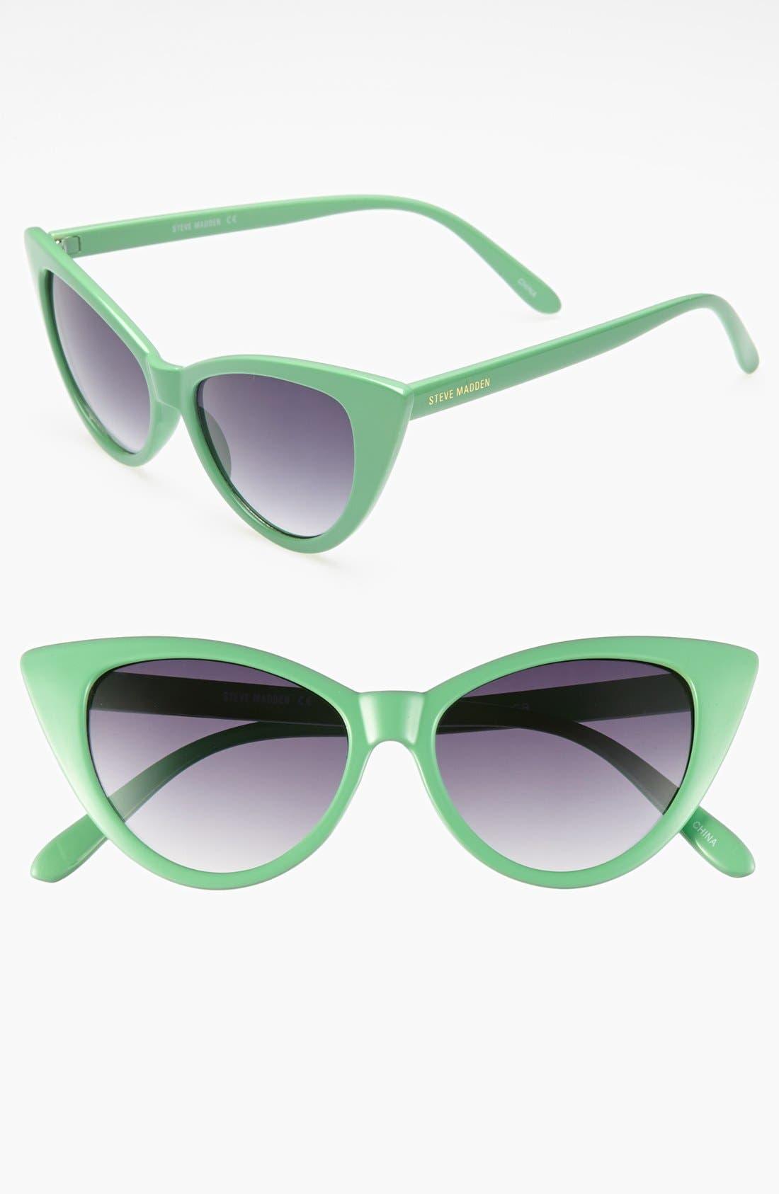 Alternate Image 1 Selected - Steve Madden 50mm Cat Eye Sunglasses