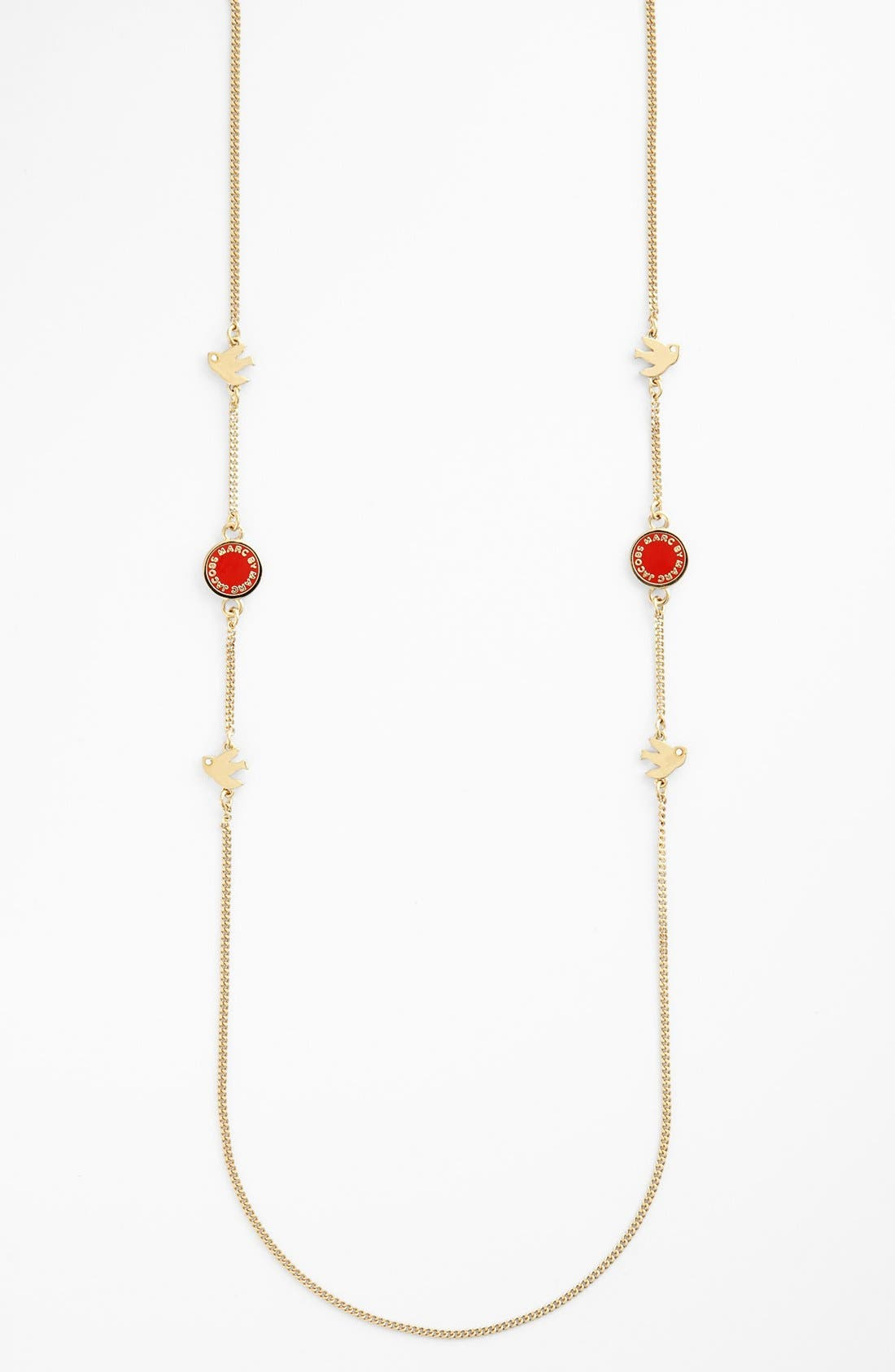 Alternate Image 1 Selected - MARC BY MARC JACOBS 'Classic Marc - Bird Medley' Long Station Necklace
