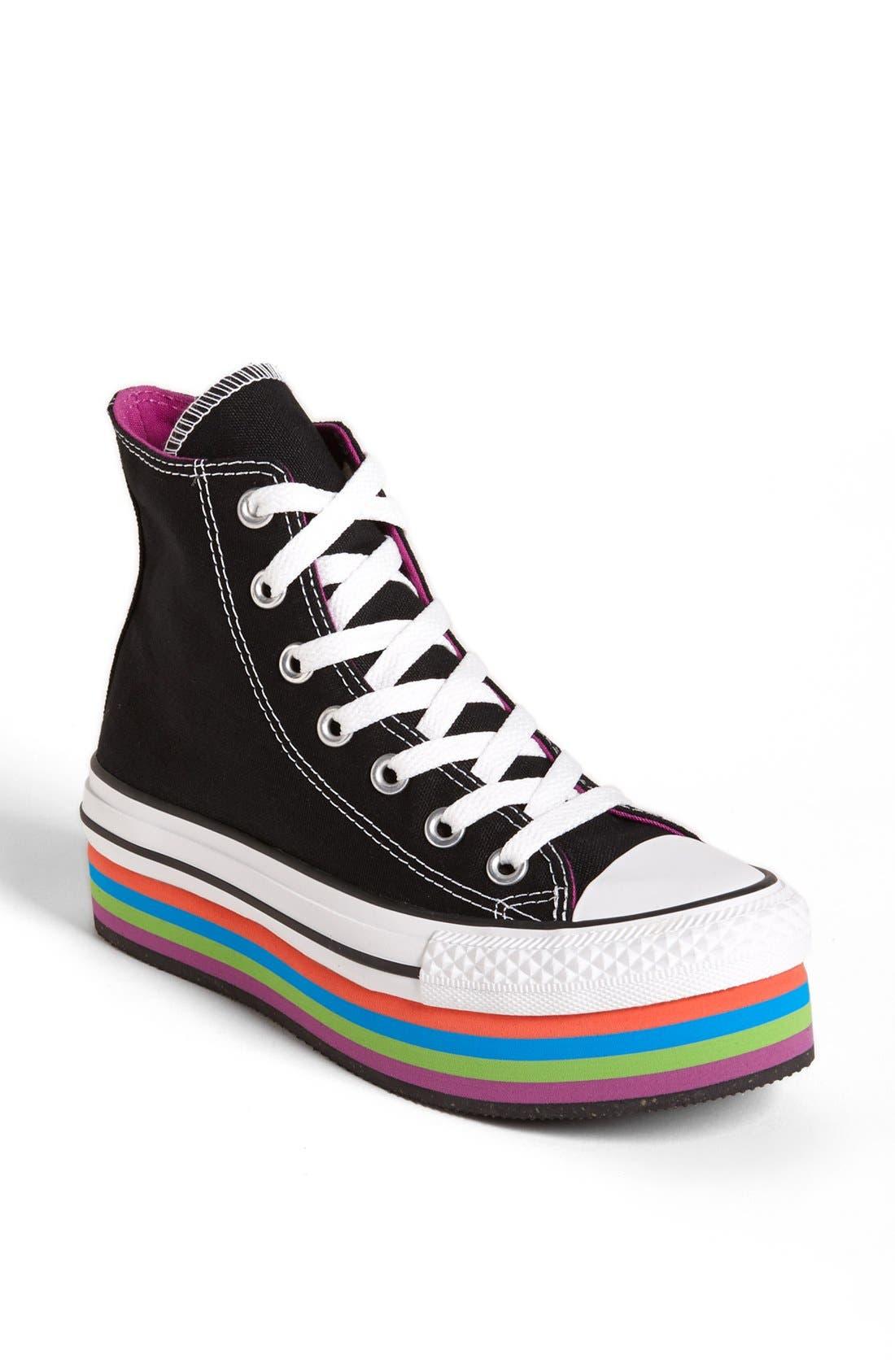 Alternate Image 1 Selected - Converse Chuck Taylor® All Star® Platform High Top Sneaker (Women)