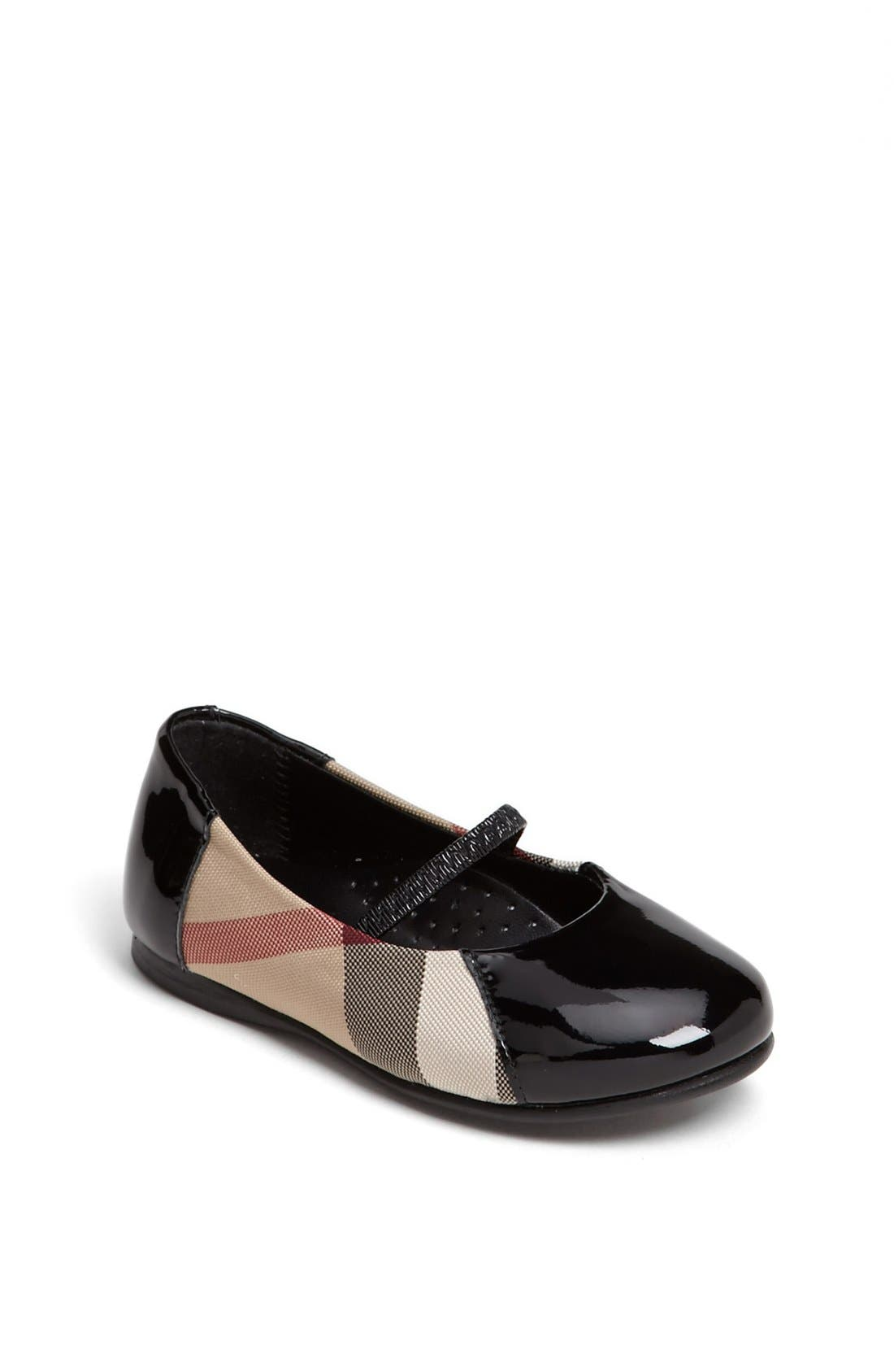 Alternate Image 1 Selected - Burberry 'Milly' Flat (Walker, Toddler, Little Kid & Big Kid)