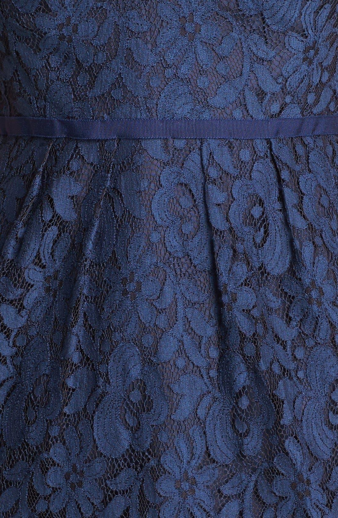 Alternate Image 4  - Jenny Yoo 'Hudson' Lace Sheath Dress (Online Only)
