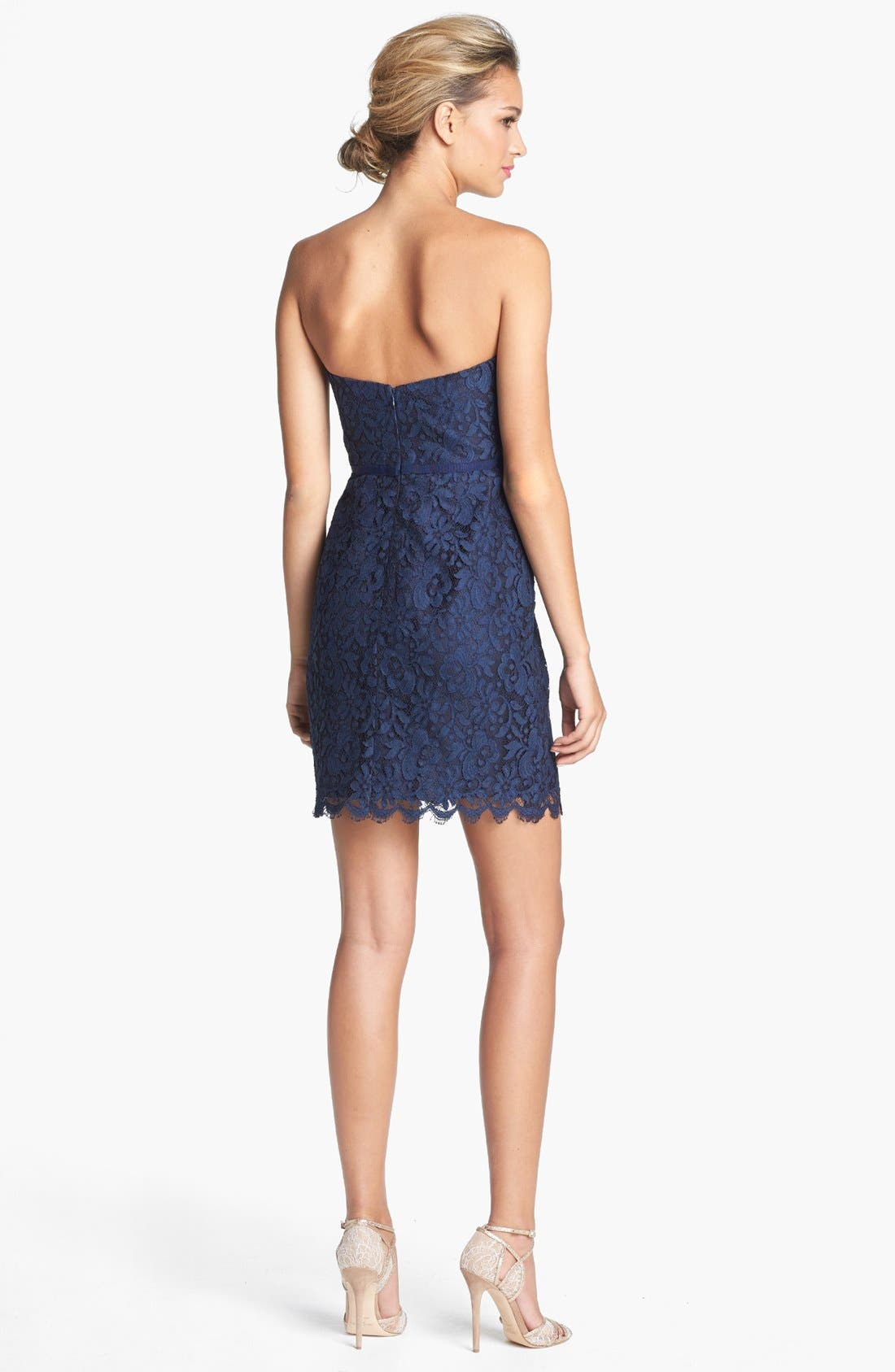 Alternate Image 2  - Jenny Yoo 'Hudson' Lace Sheath Dress (Online Only)