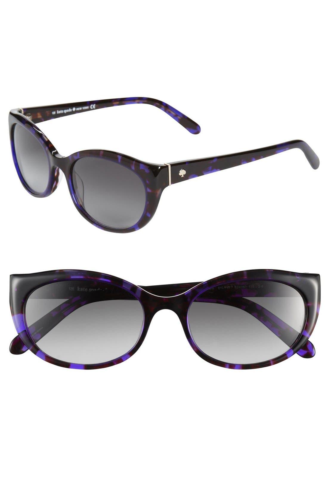 Alternate Image 1 Selected - kate spade new york 'phyllis' 52mm sunglasses