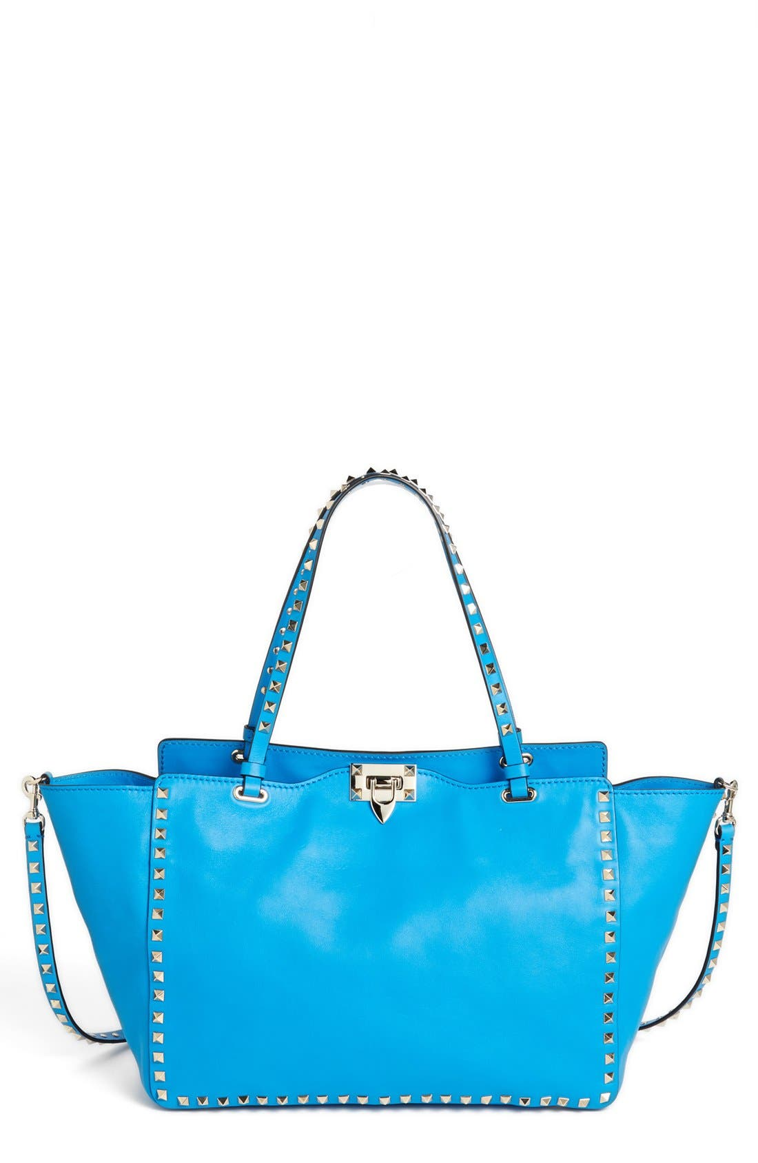 Alternate Image 1 Selected - Valentino 'Rockstud - Medium' Double Handle Leather Tote