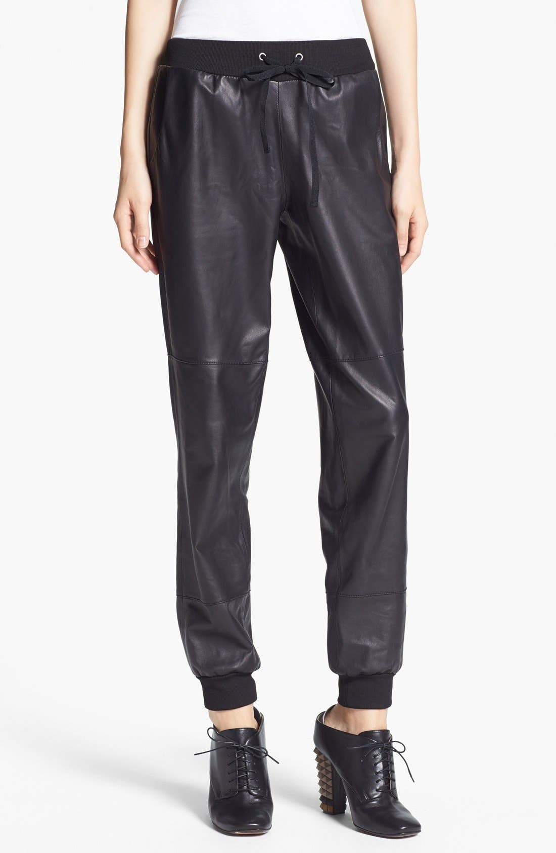 Alternate Image 1 Selected - Elizabeth and James 'Kacey' Leather Sweatpants