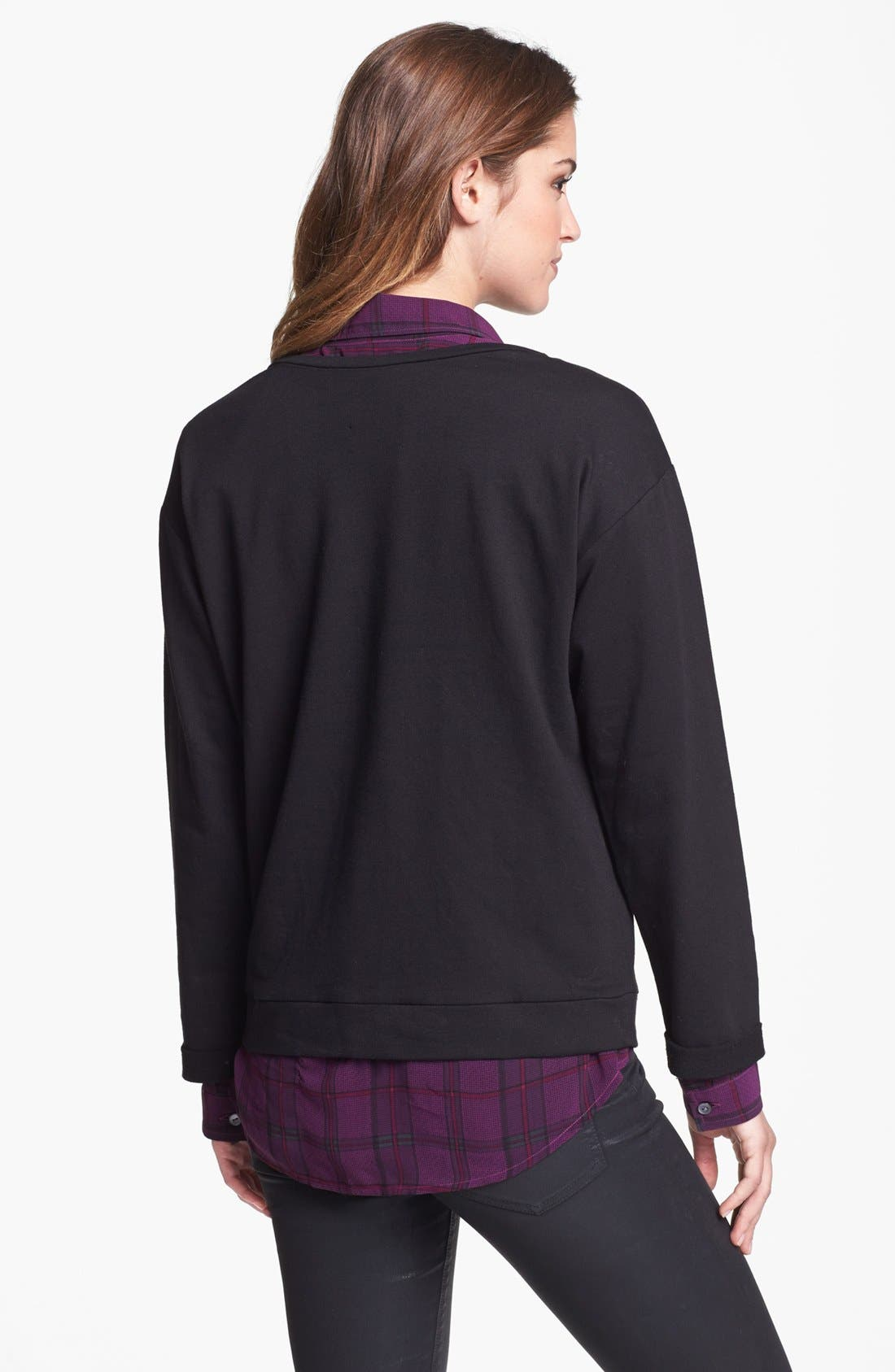 Alternate Image 2  - Two by Vince Camuto Studded Sweatshirt