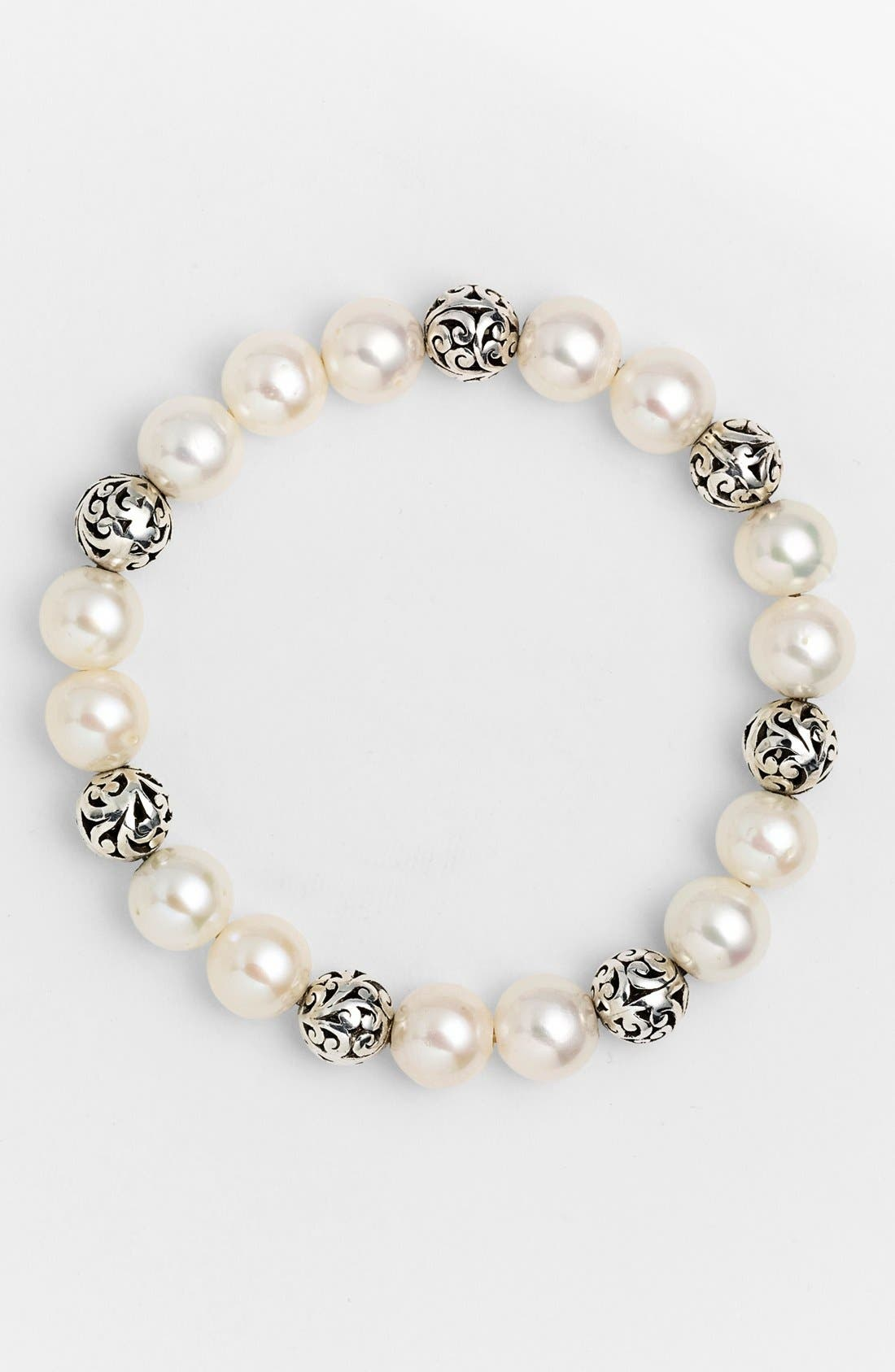 Main Image - Lois Hill 'Beach' Pearl Stretch Bracelet