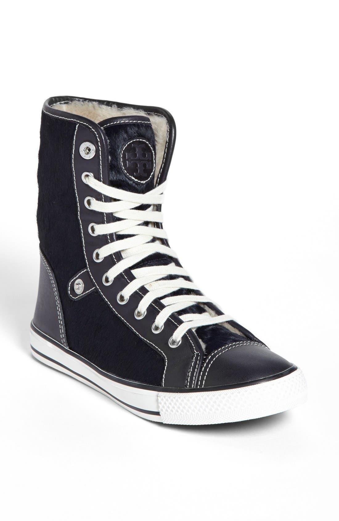 Alternate Image 1 Selected - Tory Burch 'Benjamin' High Top Sneaker