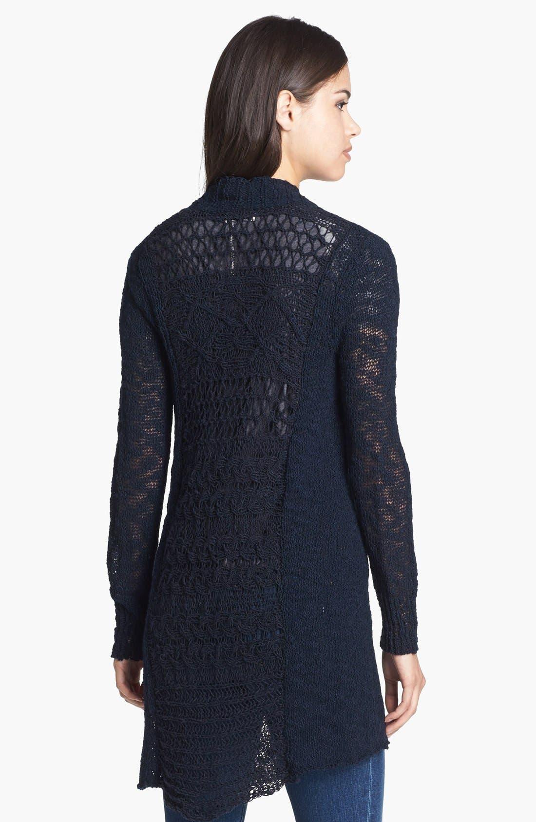 Alternate Image 5  - Lucky Brand 'Alonsa' Mixed Knit Cardigan