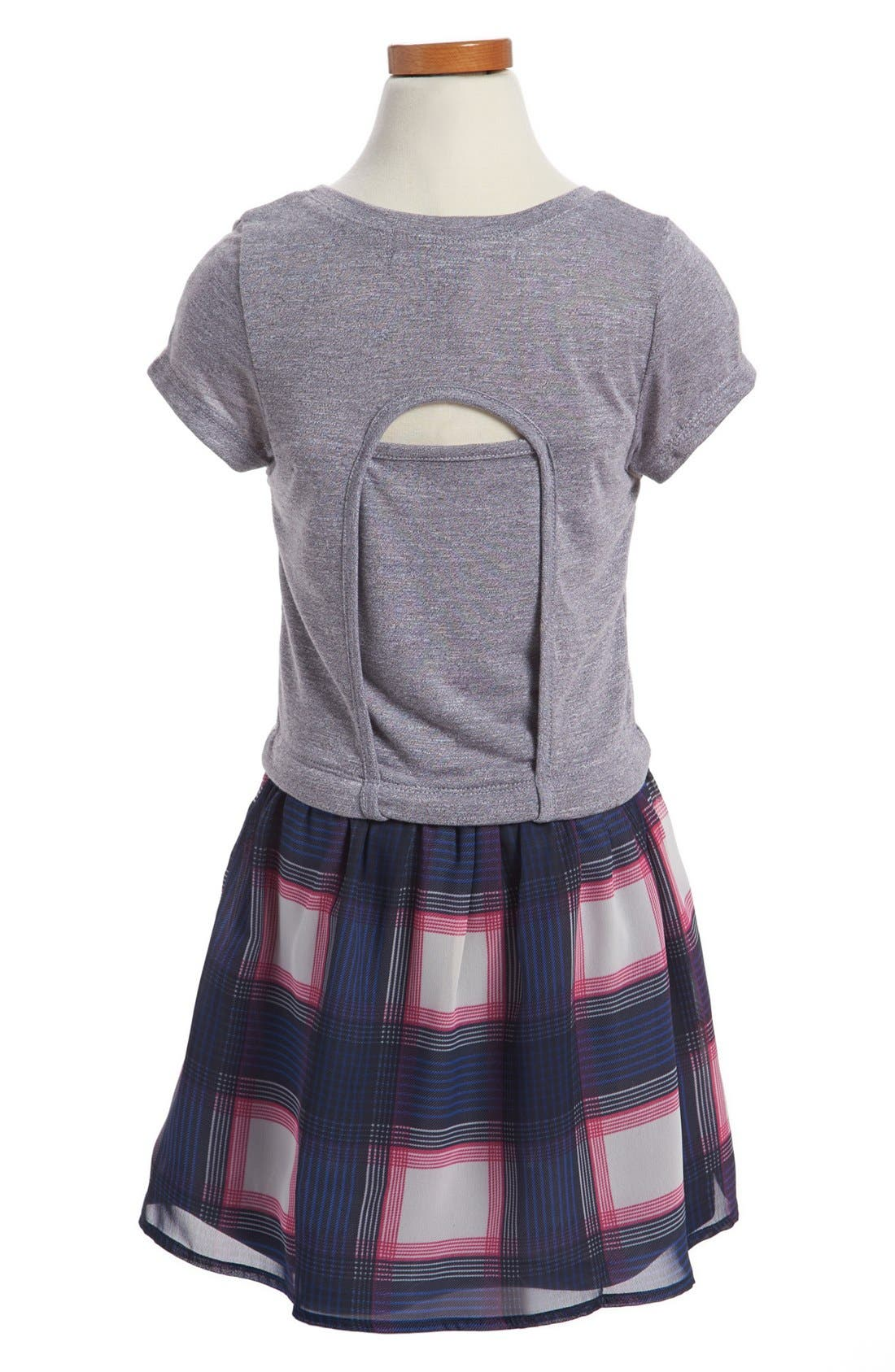 Alternate Image 2  - W Girl T-Shirt Dress (Little Girls & Big Girls)