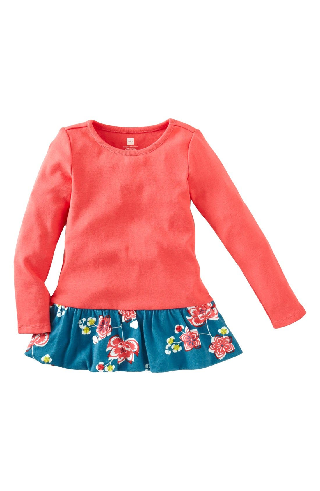 Alternate Image 1 Selected - Tea Collection 'Jianzhi' Bubble Top (Toddler Girls)