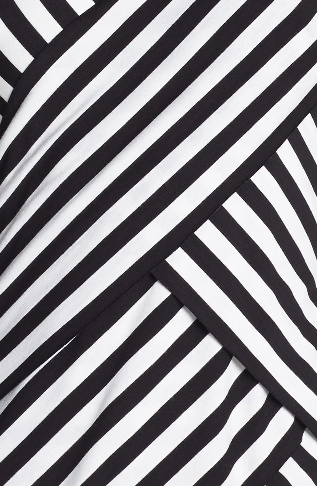 Alternate Image 3  - Vince Camuto Tiered Stripe Top (Regular & Petite)