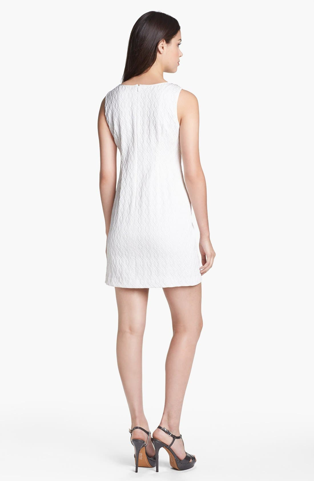 Alternate Image 2  - Adrianna Papell Embellished Jacquard Shift Dress (Petite)