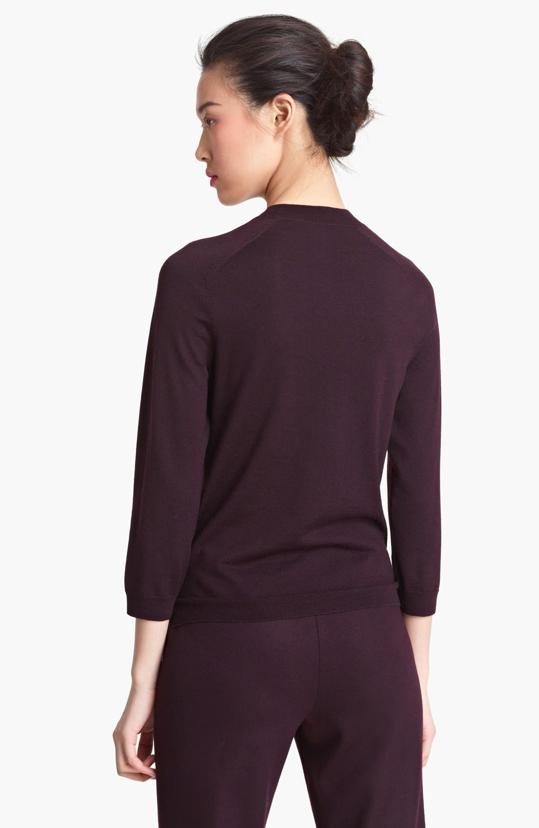 Alternate Image 2  - Lida Baday Contrast Mock Neck Sweater