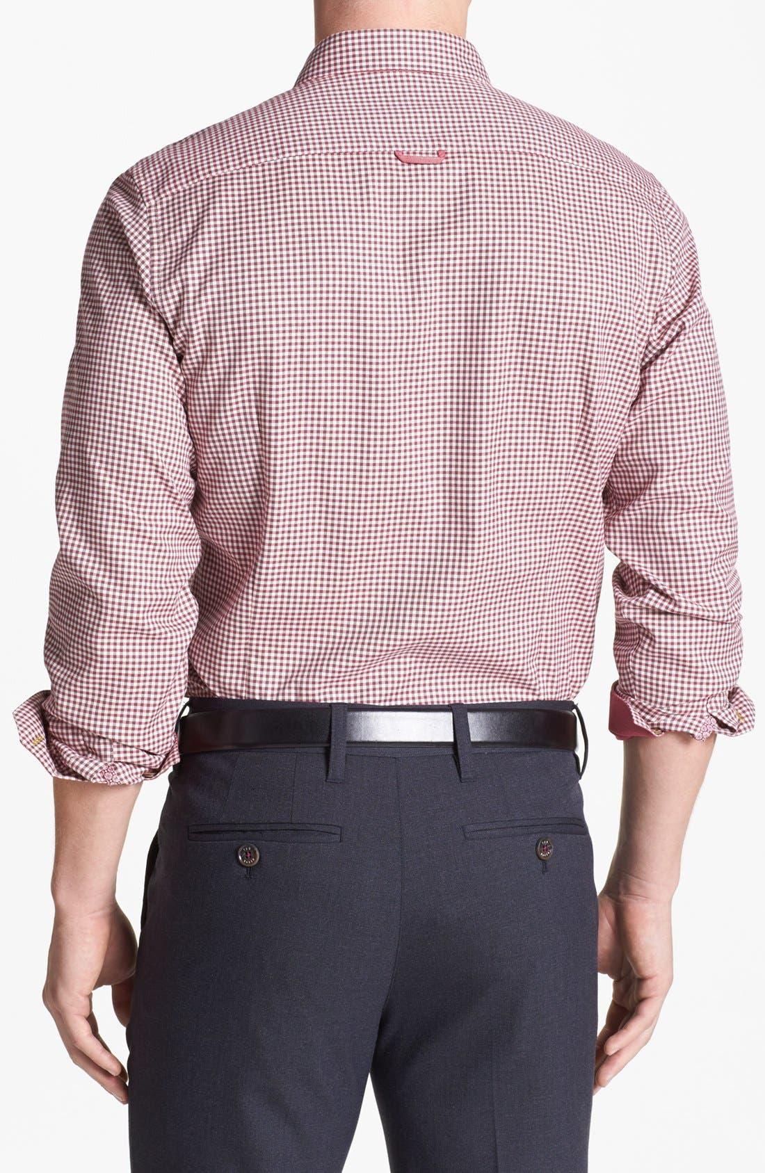 Alternate Image 2  - Ted Baker London 'Flannew' Flannel Trim Sport Shirt