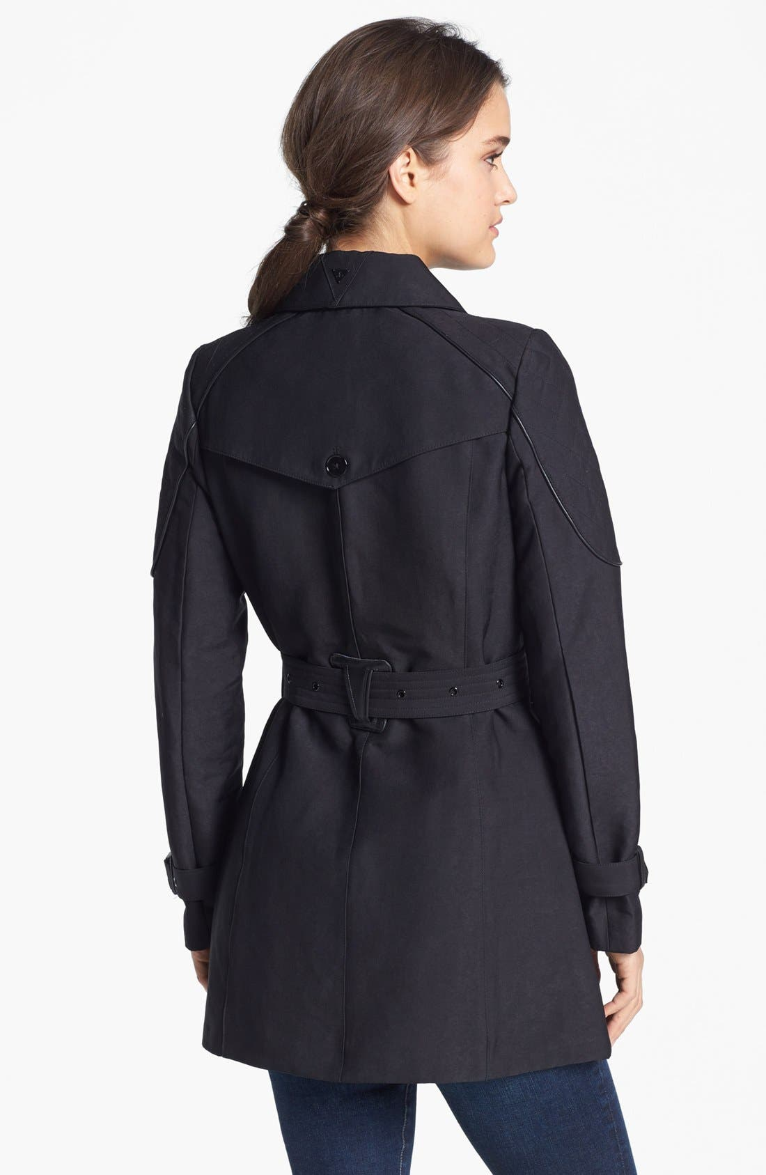 Alternate Image 2  - Sam Edelman Quilted Shoulder Trench Coat