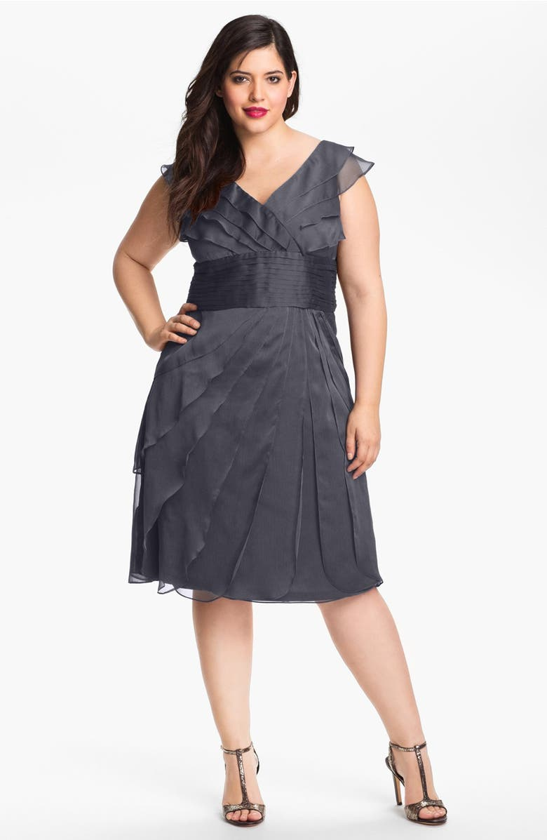 Adrianna Papell Chiffon Petal Gown (Plus Size)   Nordstrom