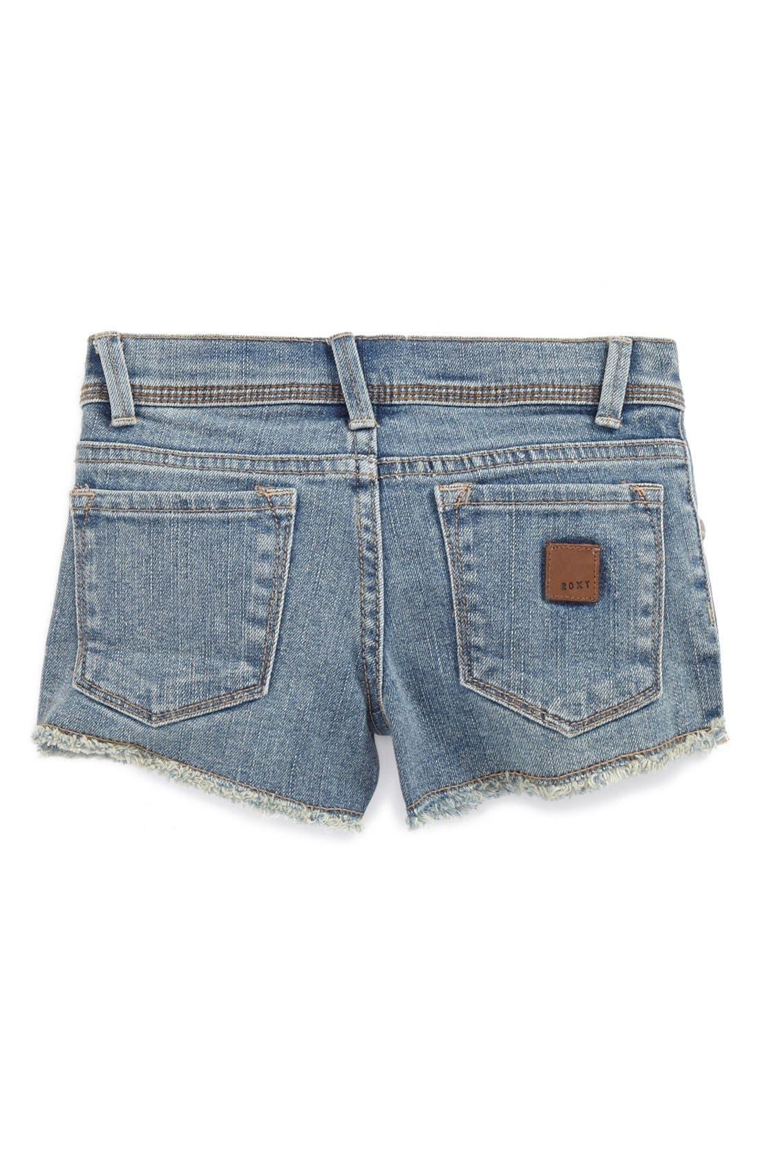 Alternate Image 1 Selected - Roxy 'Blaze' Denim Shorts (Little Girls)