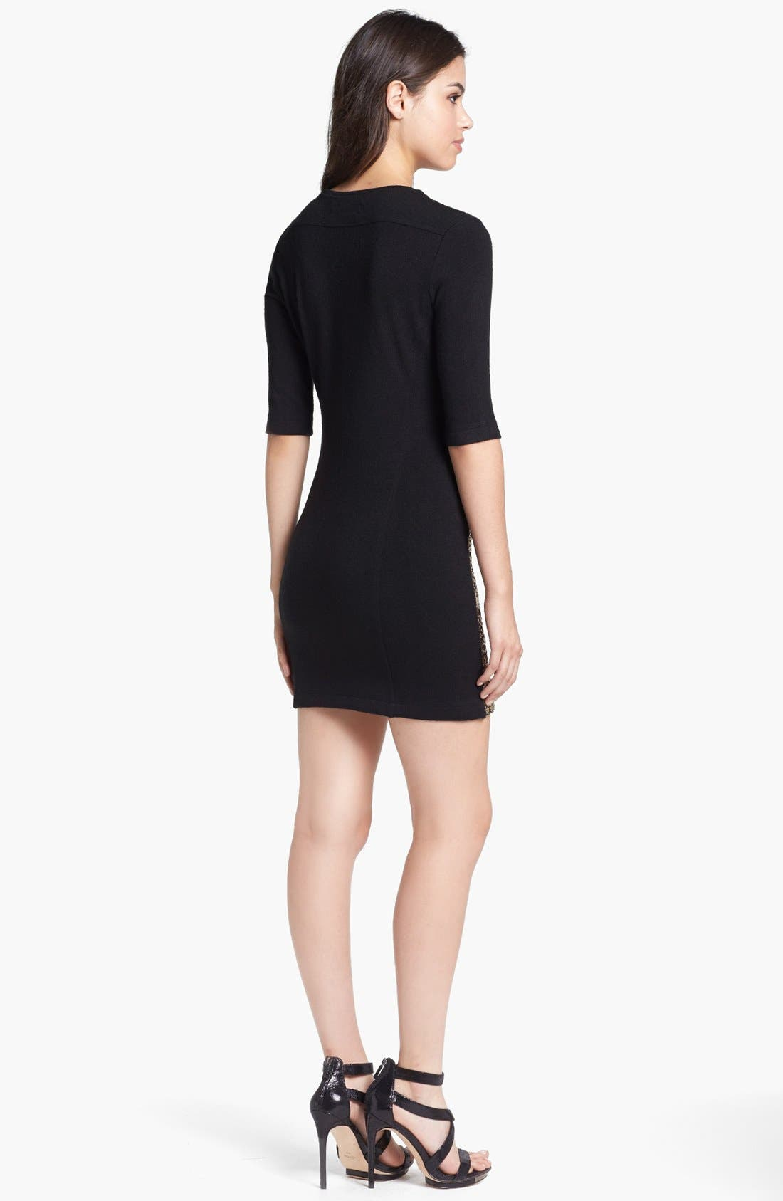 Alternate Image 2  - Dolce Vita Sequin Front Sweater Dress
