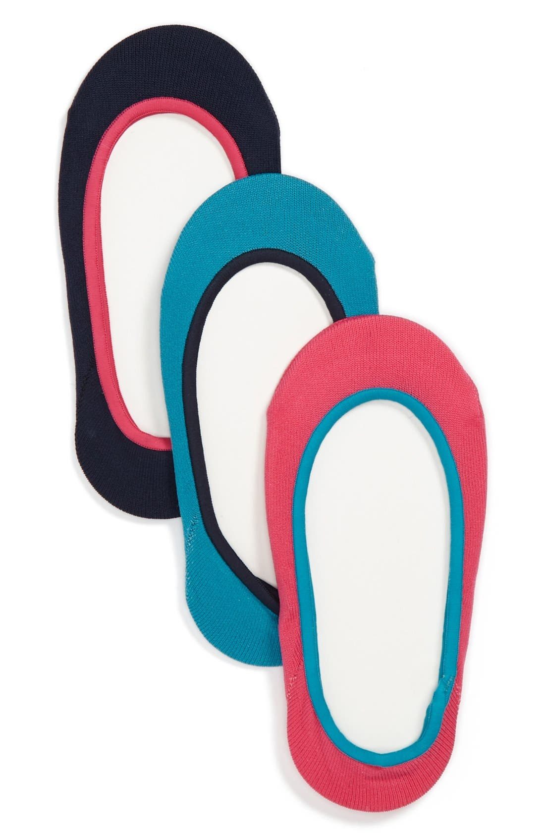 Alternate Image 1 Selected - Nordstrom Liner Socks (3-Pack) (Toddler & Little Girls)