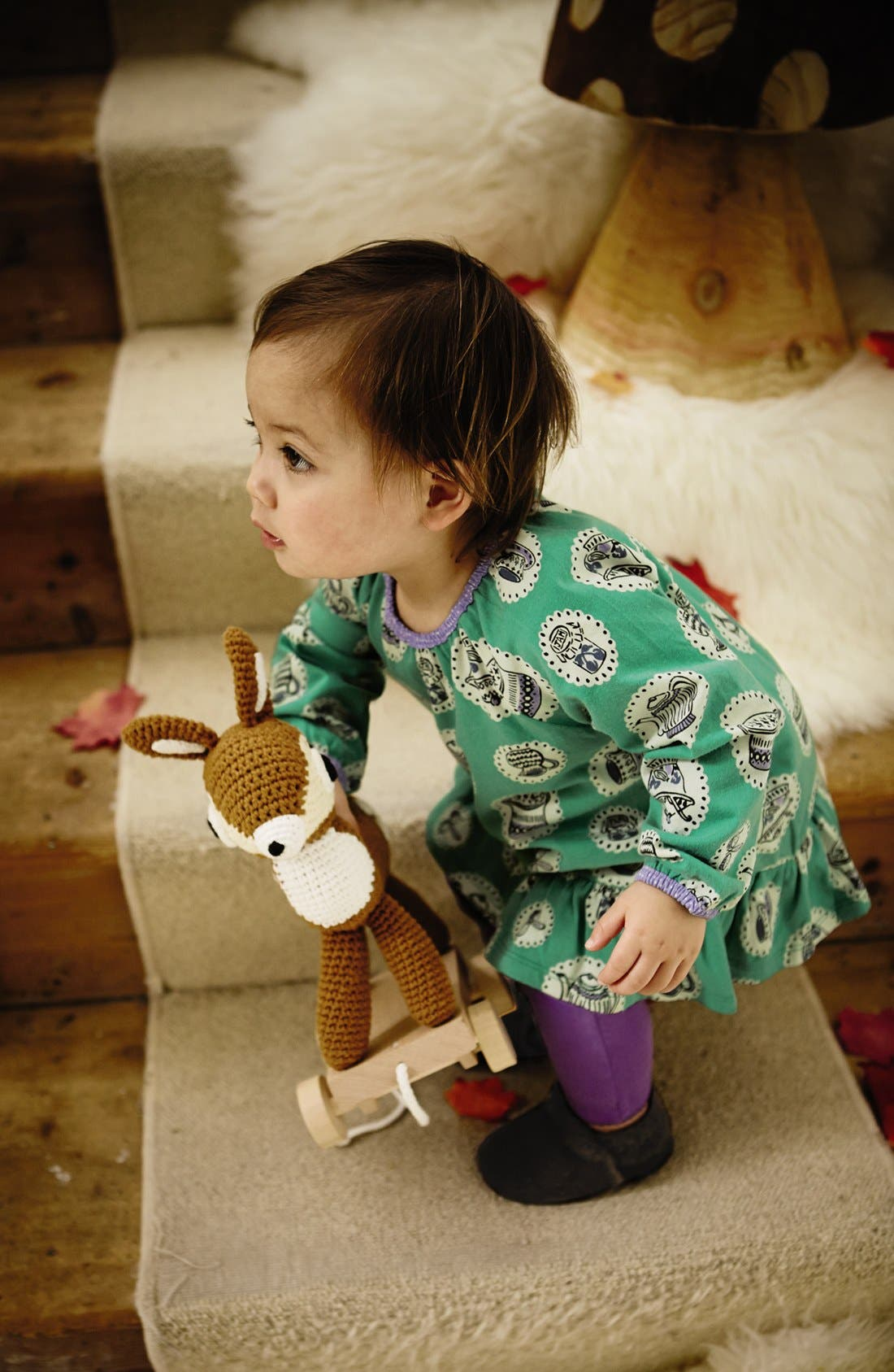 Alternate Image 2  - Mini Boden Print Jersey Tunic & Leggings (Baby Girls)