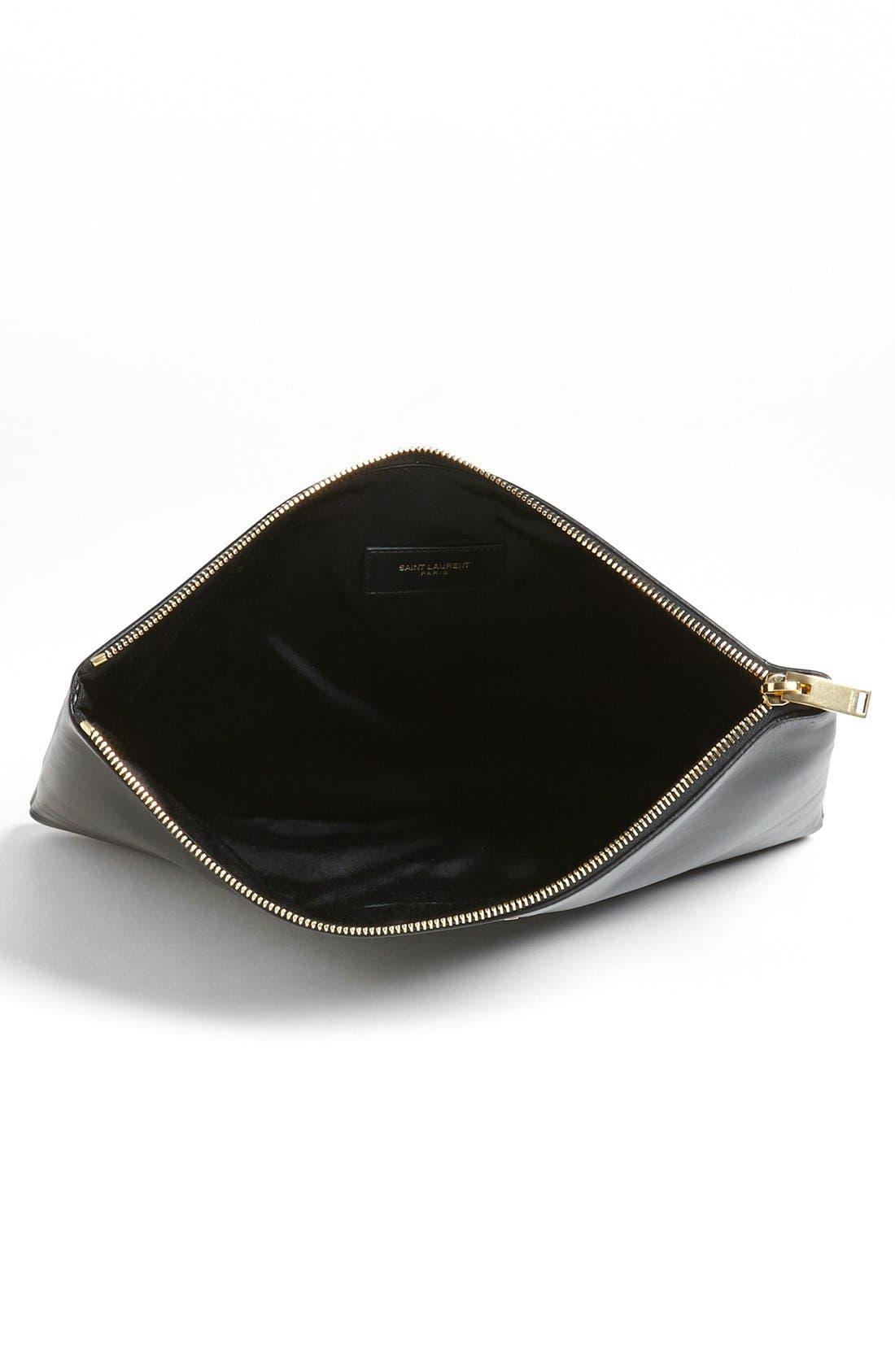 Alternate Image 4  - Saint Laurent Leather Clutch