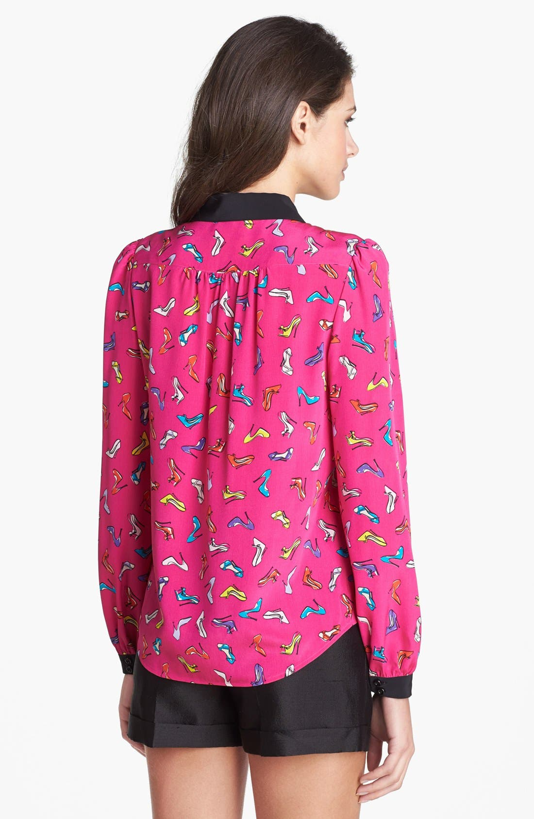 Alternate Image 2  - kate spade new york 'lorelle' print silk shirt